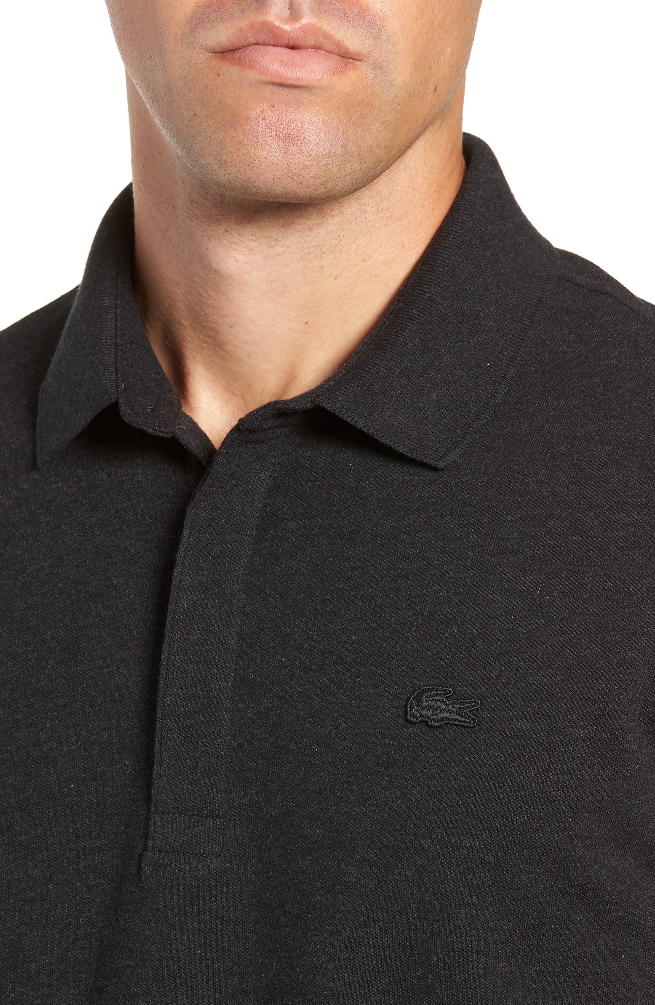 Long Sleeve Stretch Piqué Polo,                             Alternate thumbnail 4, color,                             024