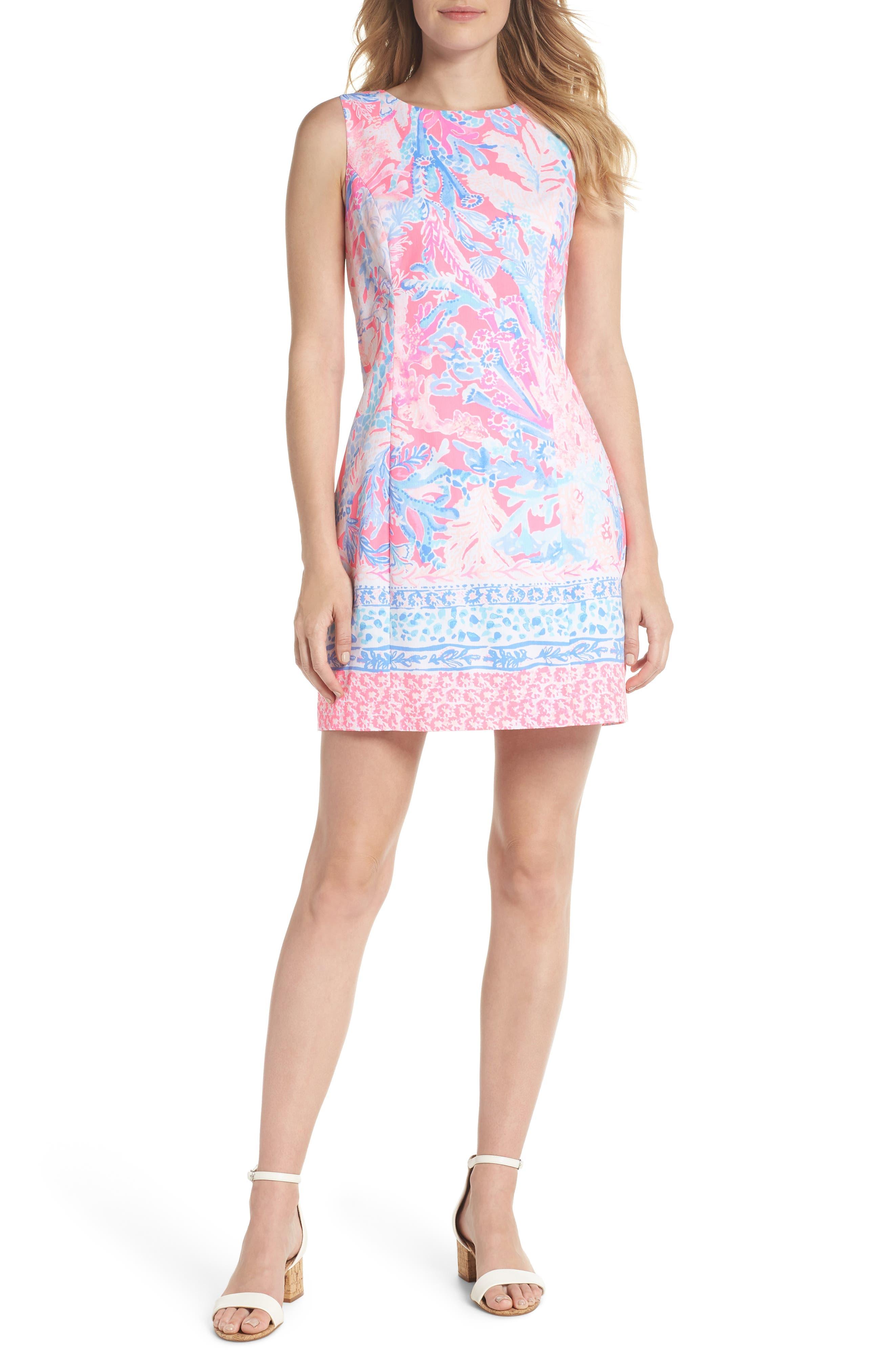 Mila Sheath Dress,                             Alternate thumbnail 5, color,                             LIGHT PASCHA PINK AQUADESIAC