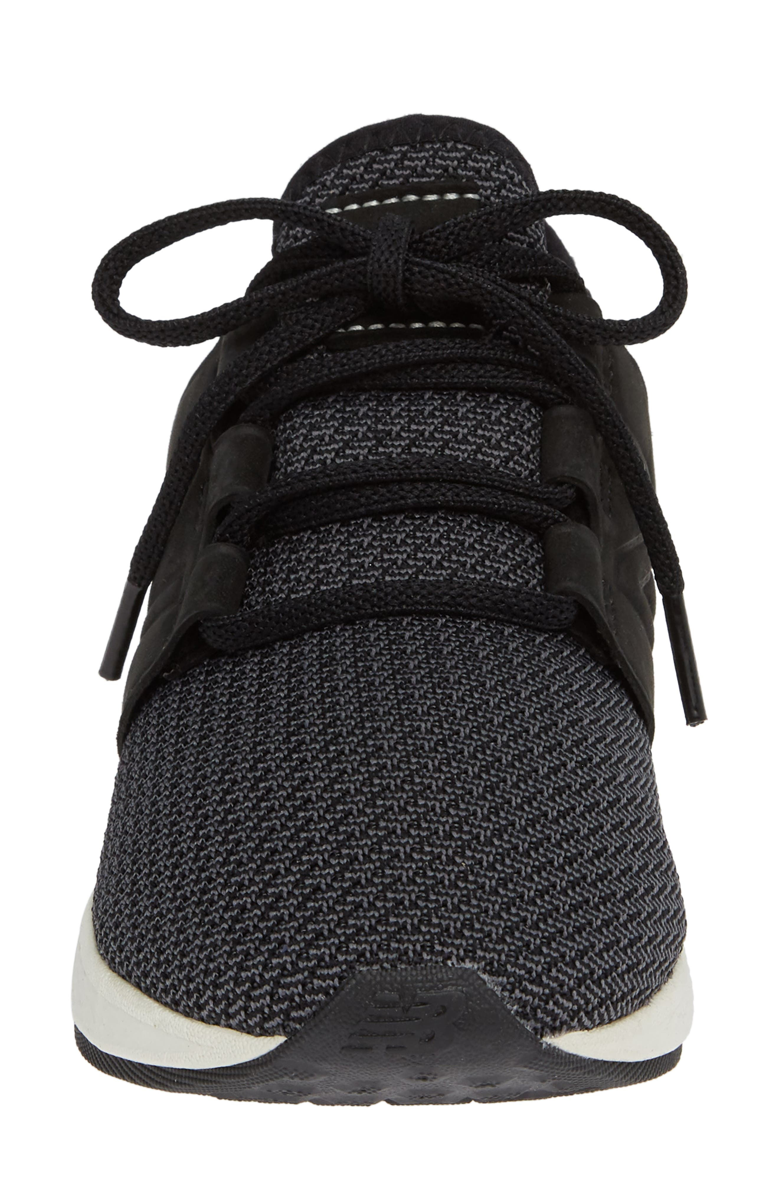 Fresh Foam Cruz Knit Running Shoe,                             Alternate thumbnail 4, color,                             BLACK/ MAGNET