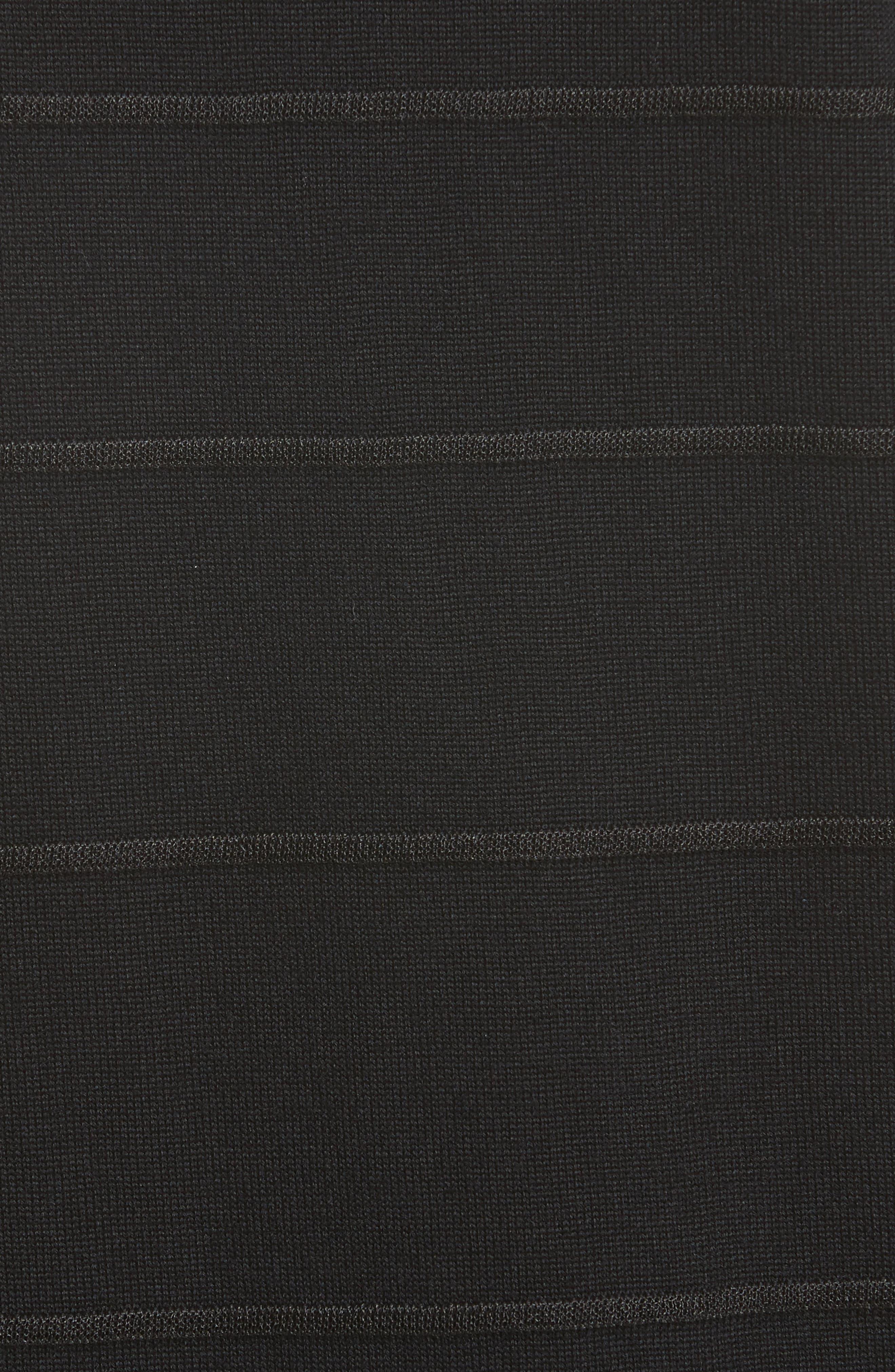 Ottoman Stitch Sweater,                             Alternate thumbnail 5, color,                             001