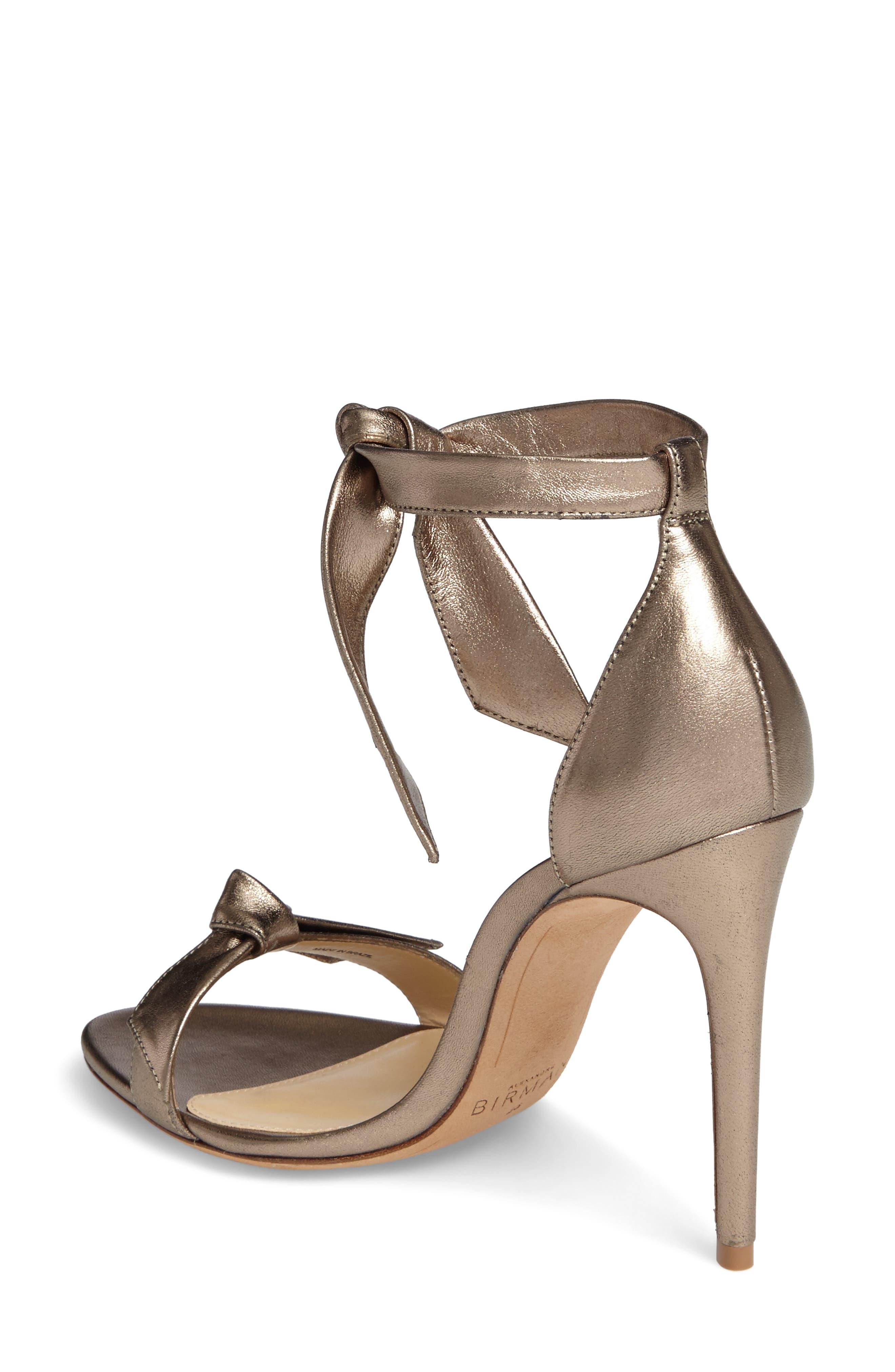 Clarita Ankle Tie Sandal,                             Alternate thumbnail 2, color,                             METALLIC GOLD LEATHER