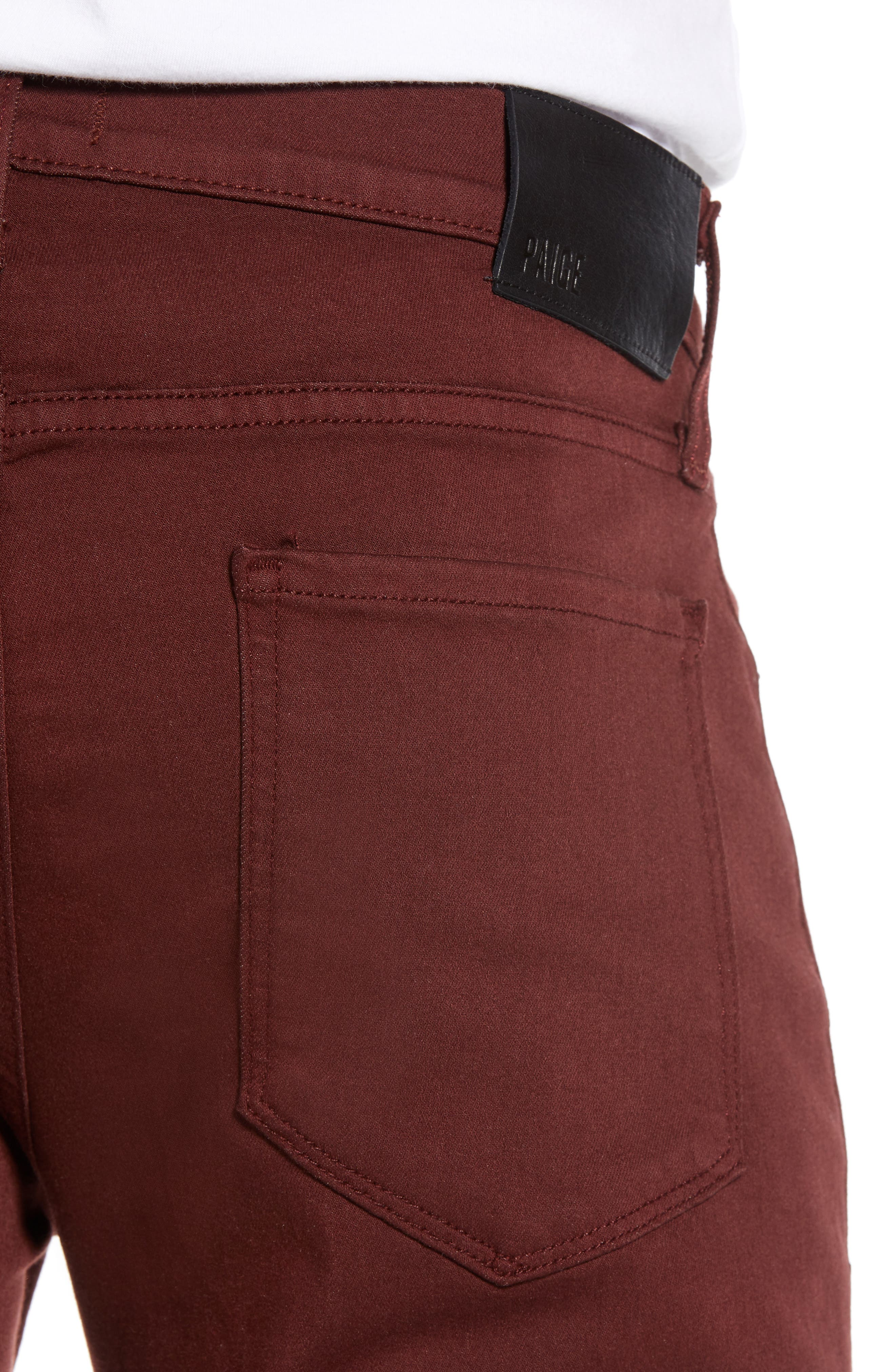 Transcend - Federal Slim Straight Leg Jeans,                             Alternate thumbnail 4, color,                             RUSTIC WINE