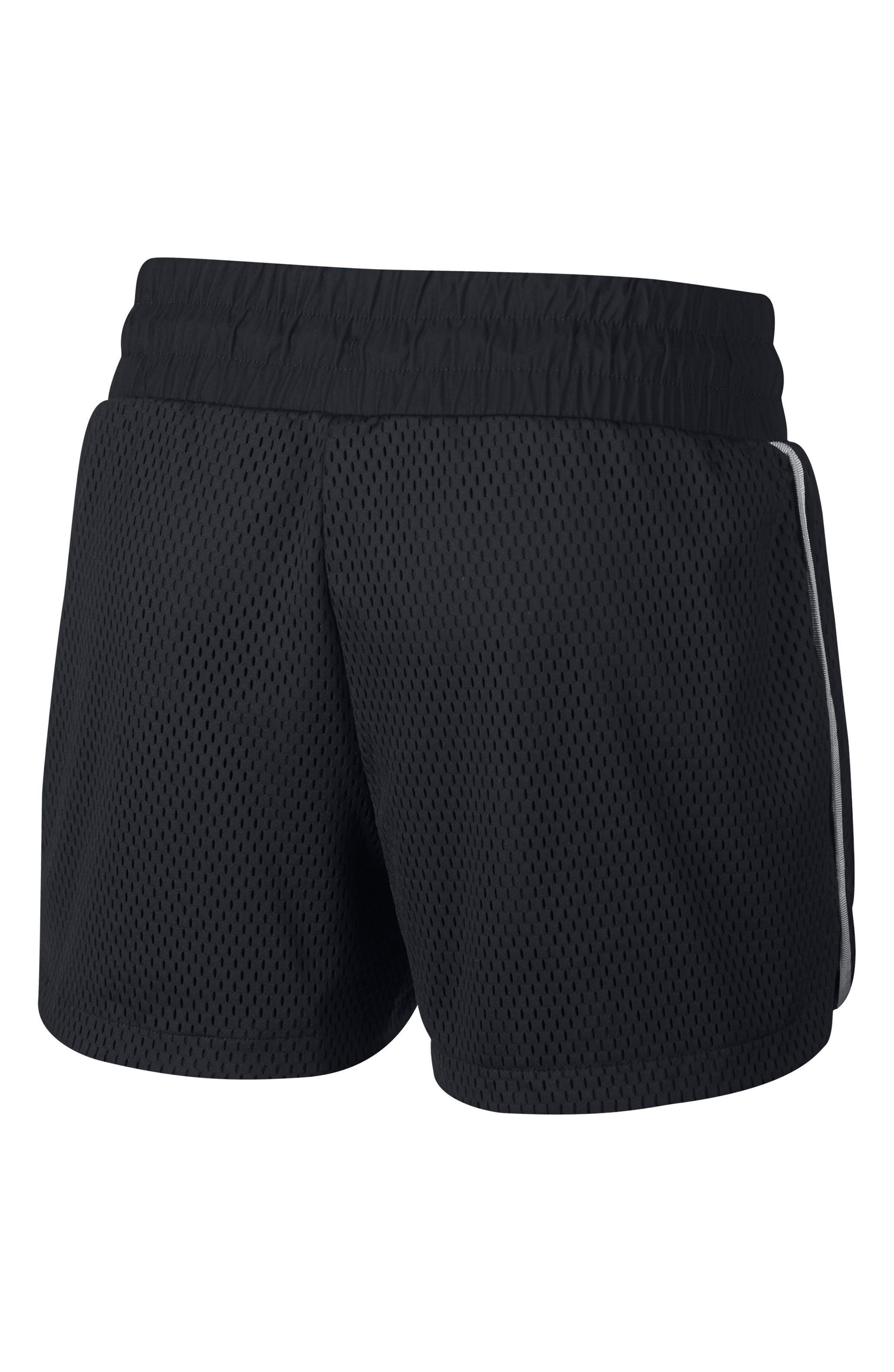 Sportswear Women's Dri-FIT Mesh Shorts,                             Alternate thumbnail 8, color,                             BLACK/ LIGHT BONE