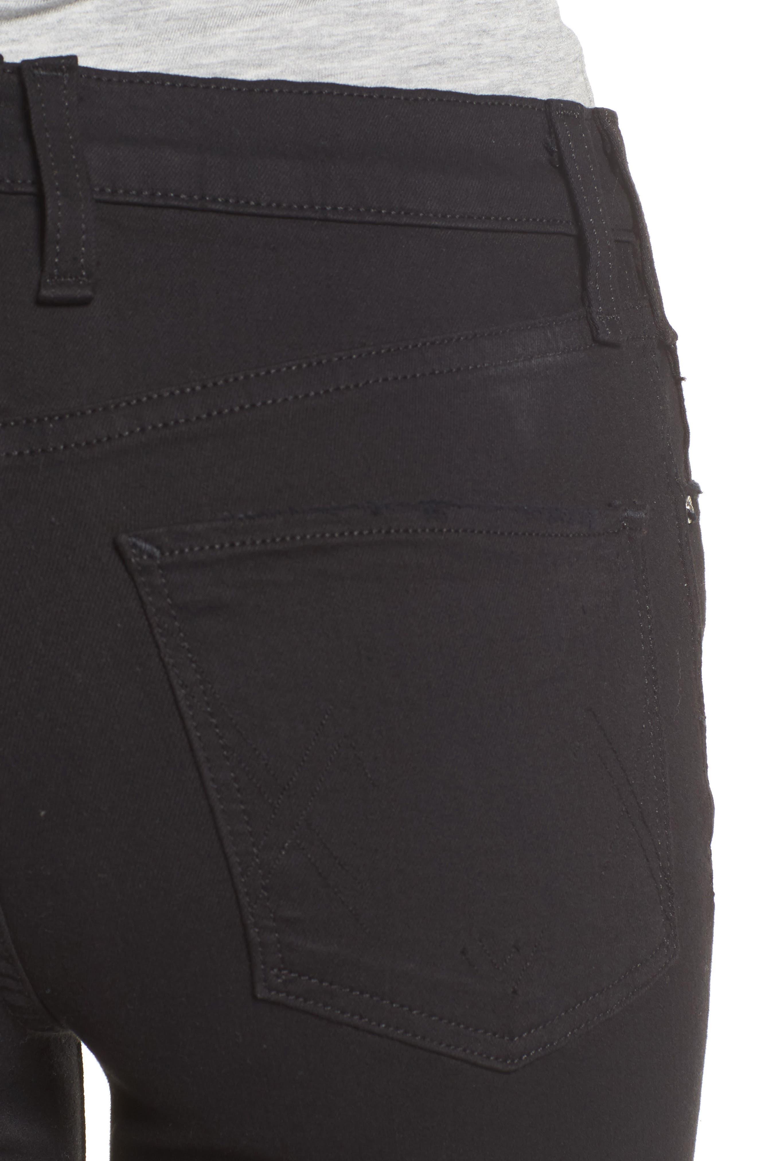 Newton High Waist Ankle Skinny Jeans,                             Alternate thumbnail 4, color,                             001