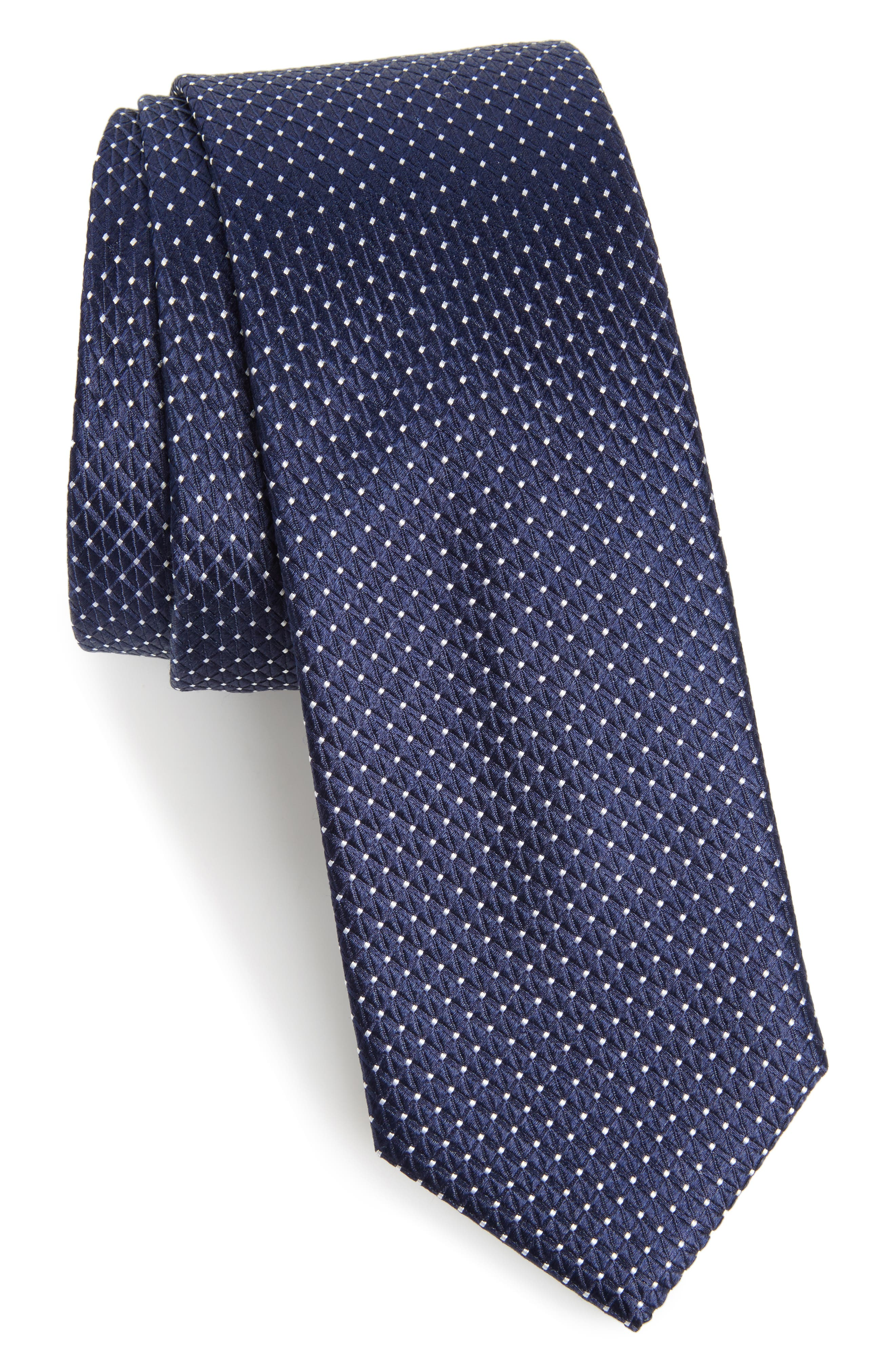 Nordstrom Men's Shop Hammond Neat Silk Tie,                             Main thumbnail 2, color,