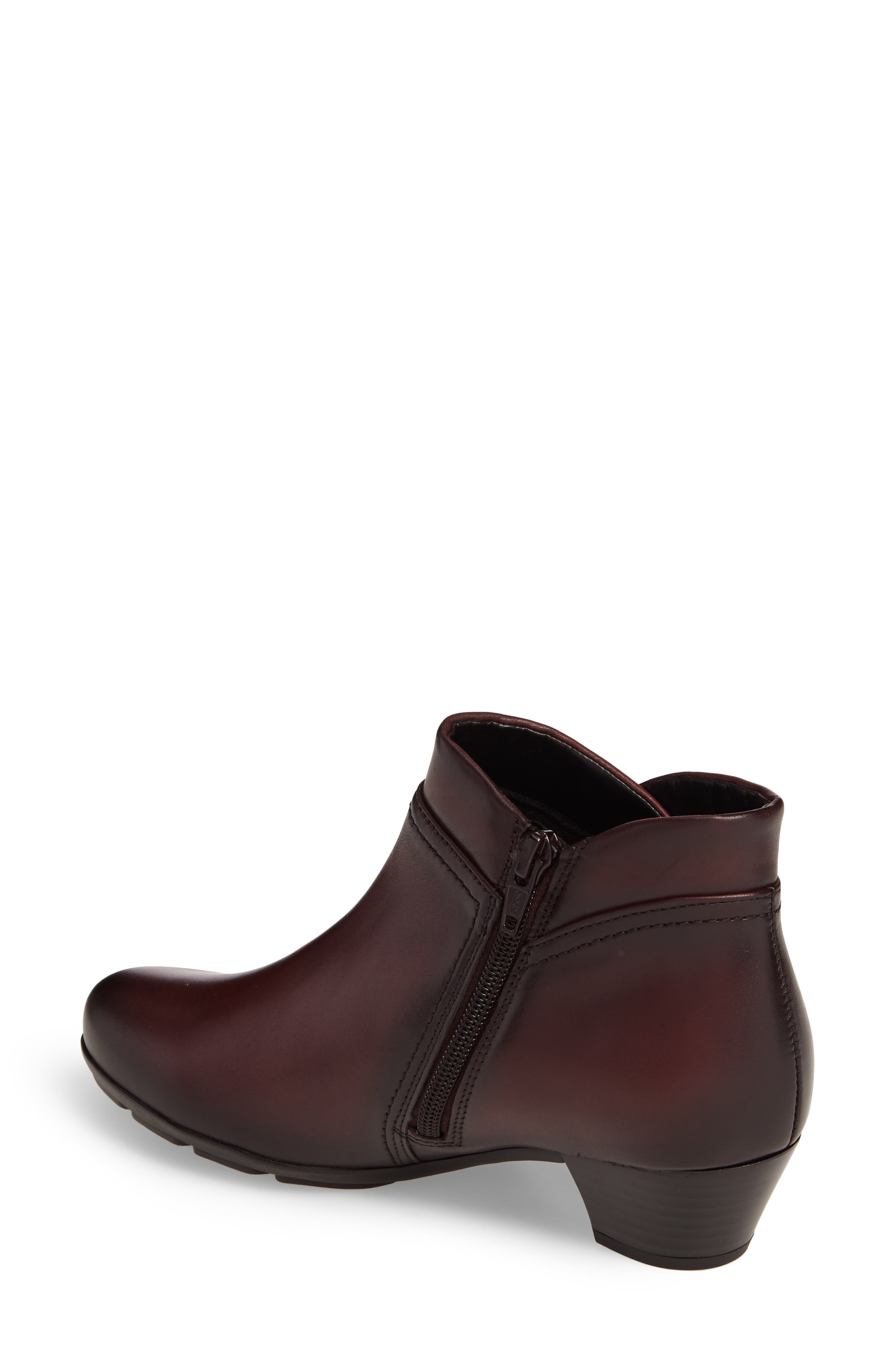 Classic Ankle Boot,                             Alternate thumbnail 2, color,                             WINE LEATHER