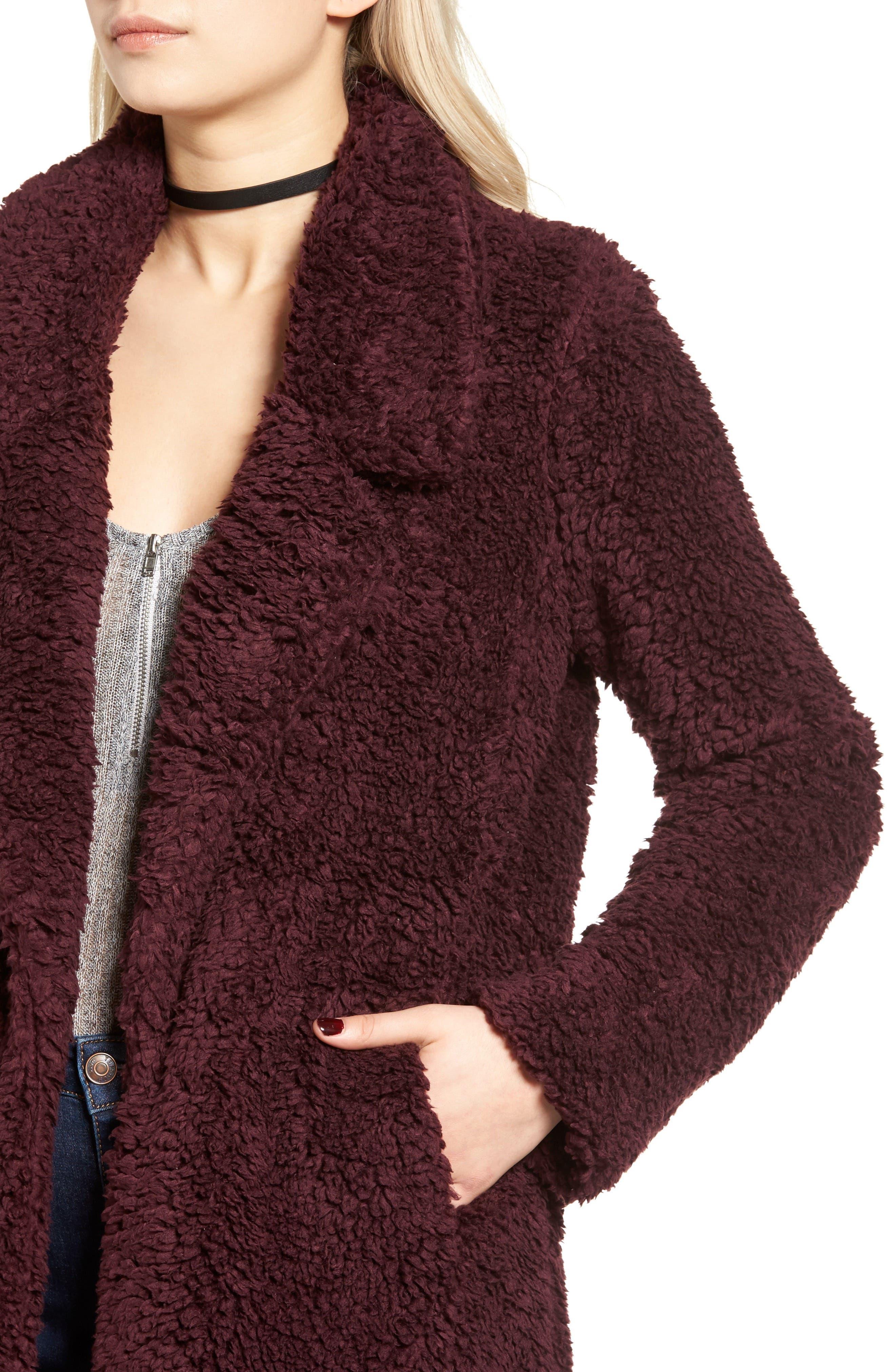 Violet Teddy Bear Coat,                             Alternate thumbnail 14, color,