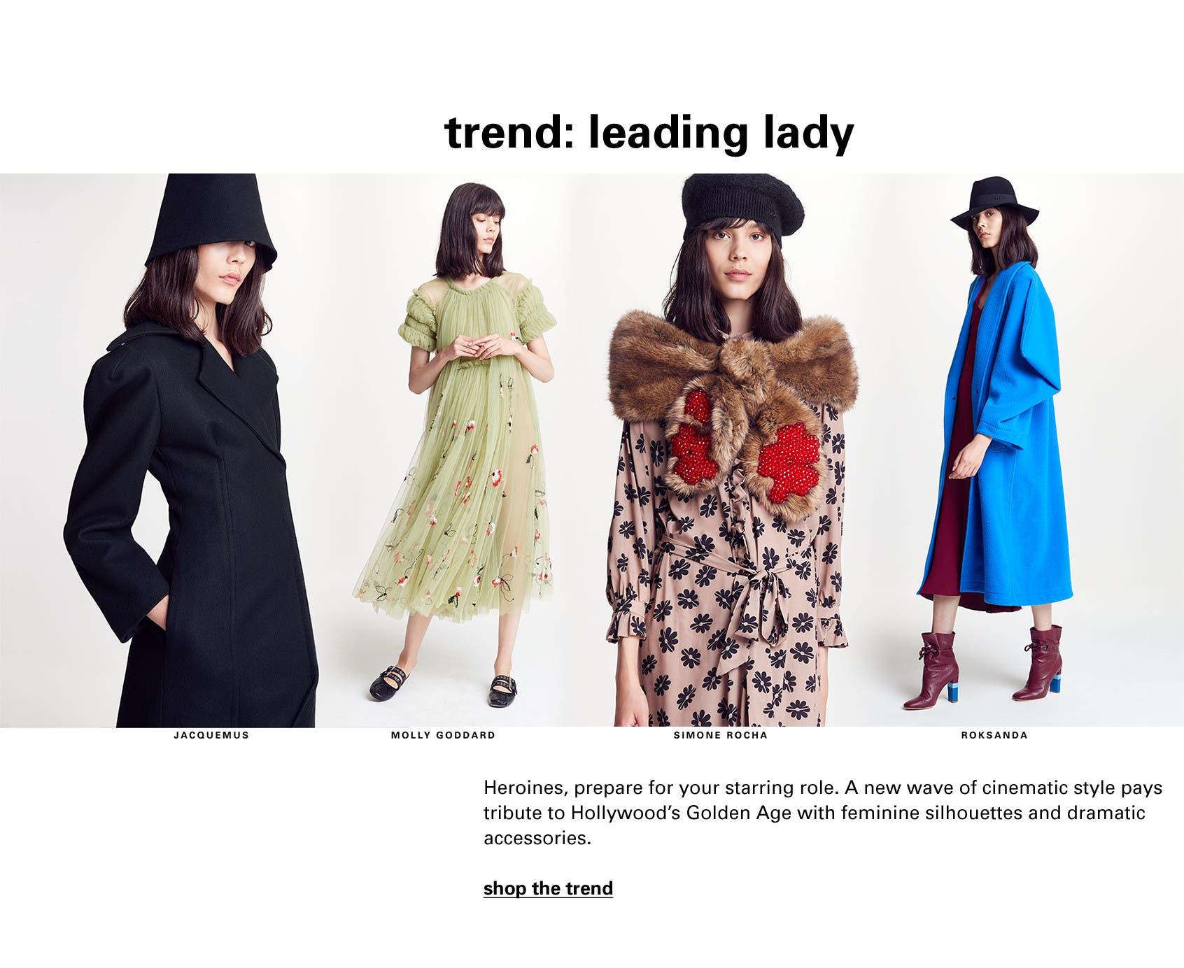 Looks from Jacquemus, Molly Goddard, Simone Rocha and Roksanda.