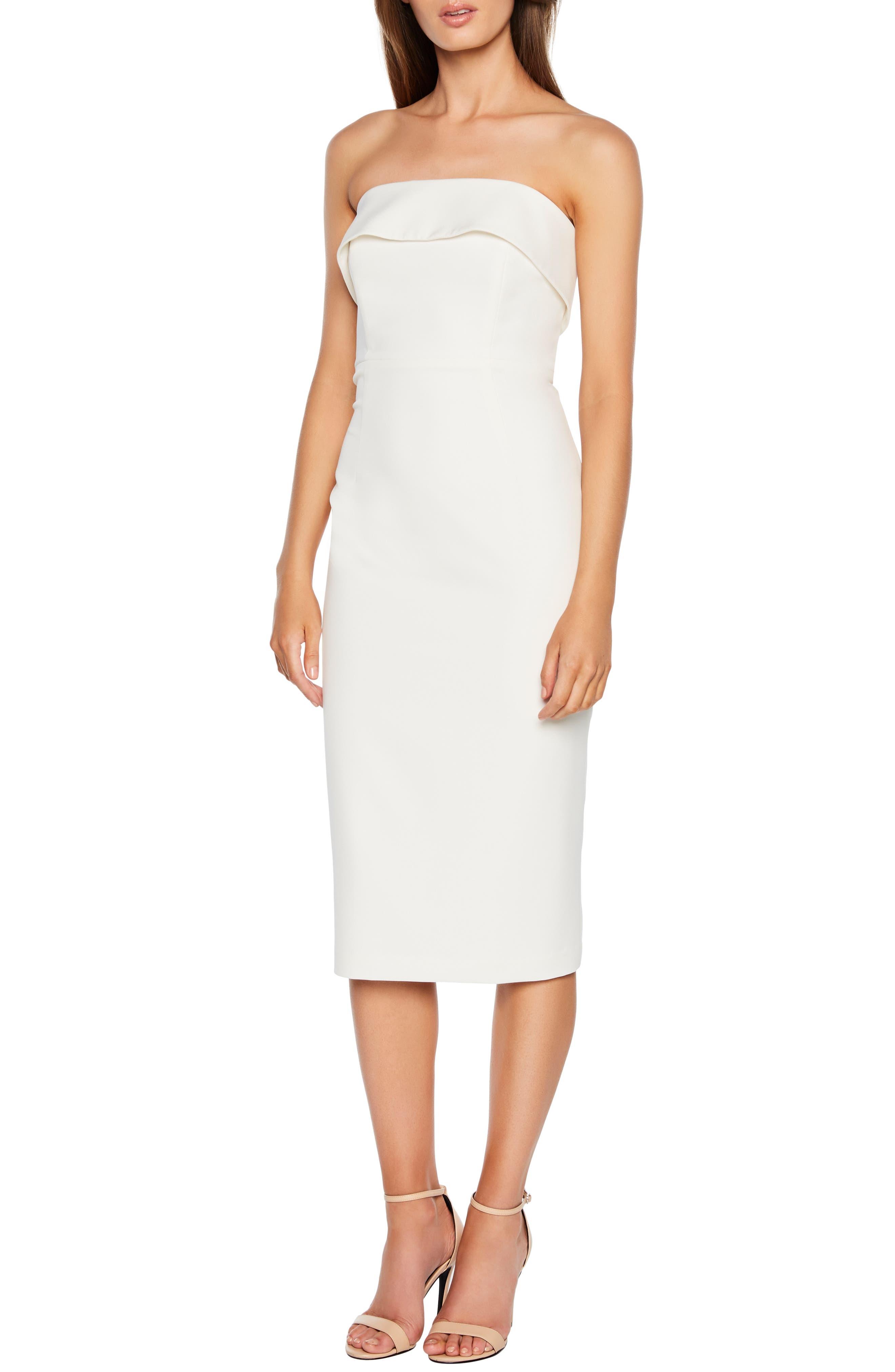 Bardot Georgia Strapless Dress, Ivory