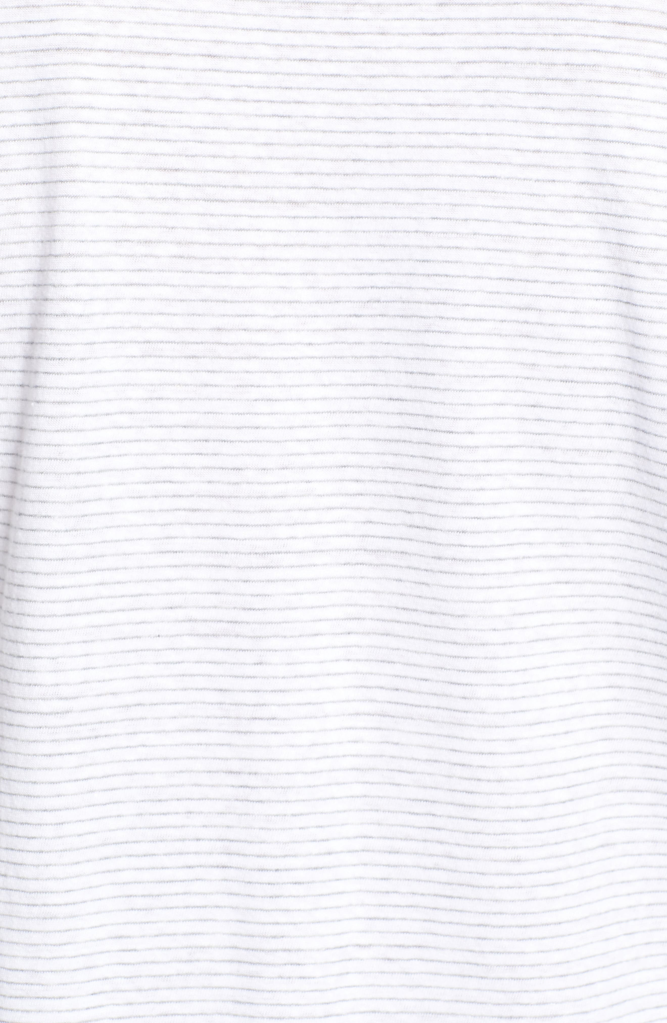 Stripe Linen & Cotton Polo,                             Alternate thumbnail 5, color,                             100