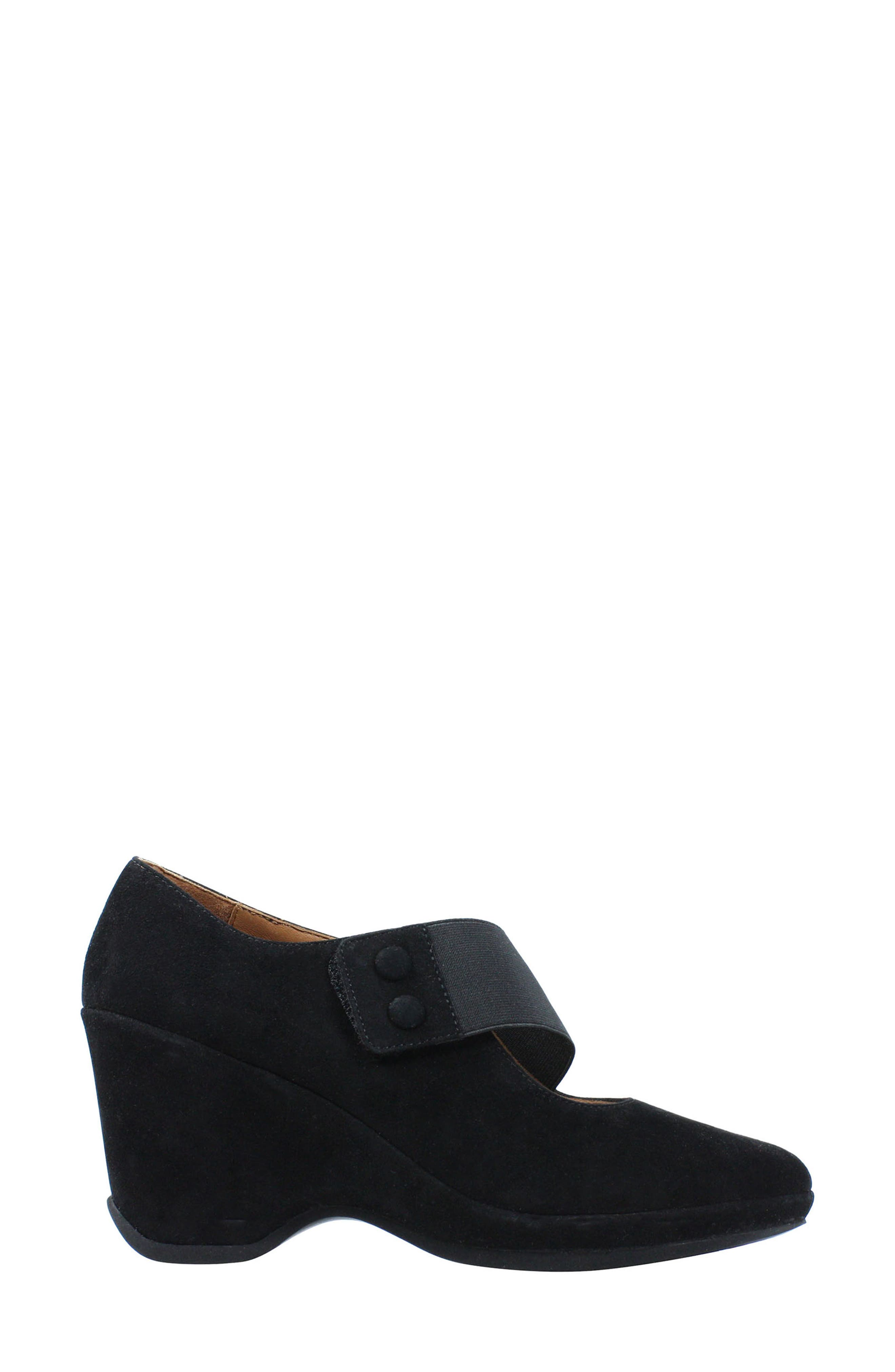 Oriana Wedge,                             Alternate thumbnail 2, color,                             BLACK SUEDE