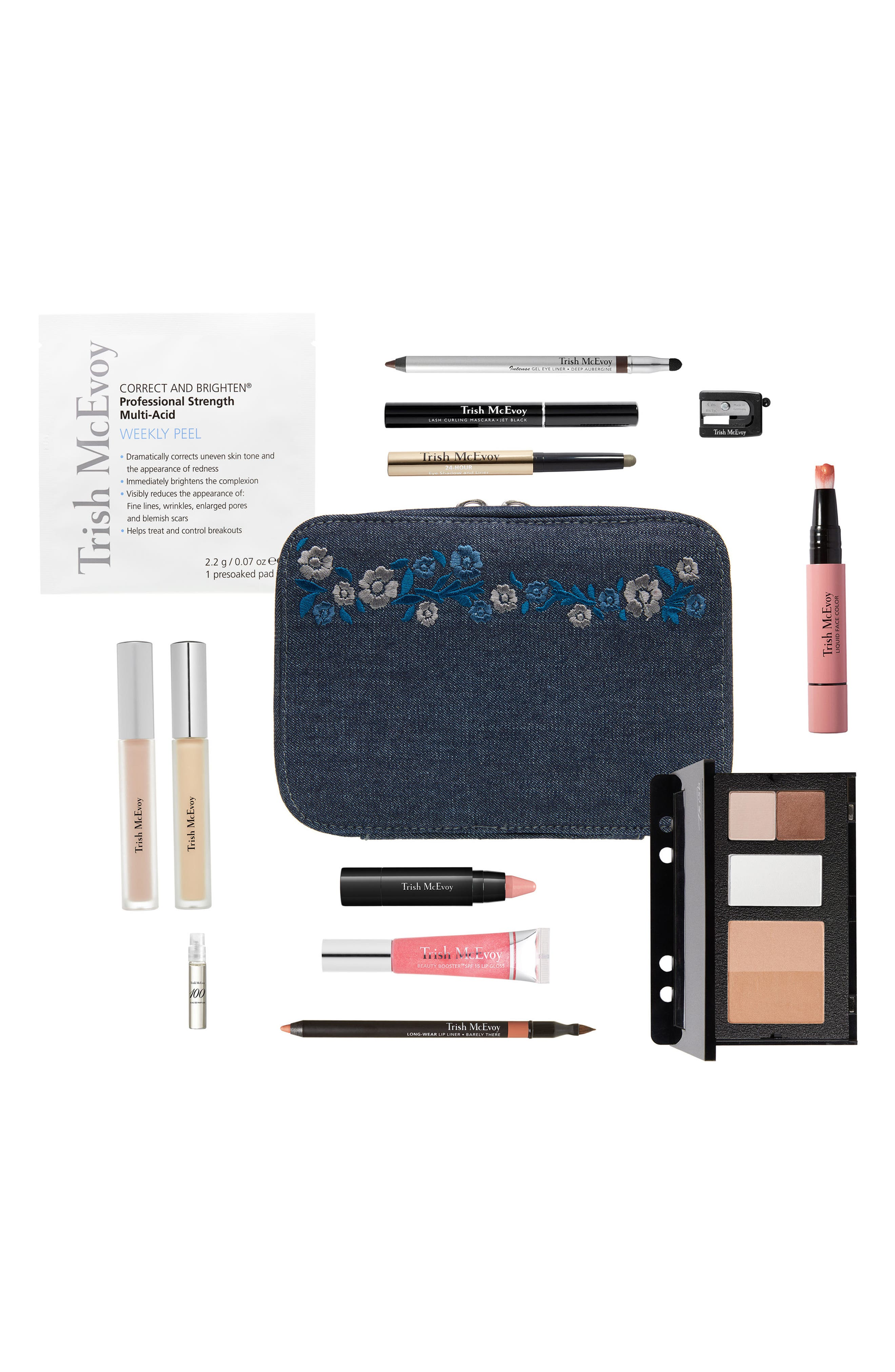 The Power of Makeup<sup>®</sup> Planner Collection Floral Denim,                             Main thumbnail 1, color,                             000