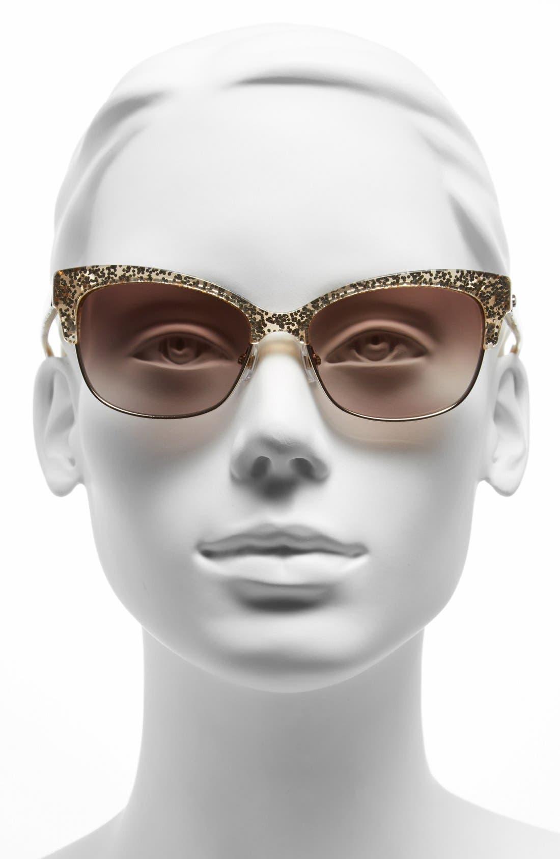 shira 55mm retro sunglasses,                             Alternate thumbnail 6, color,