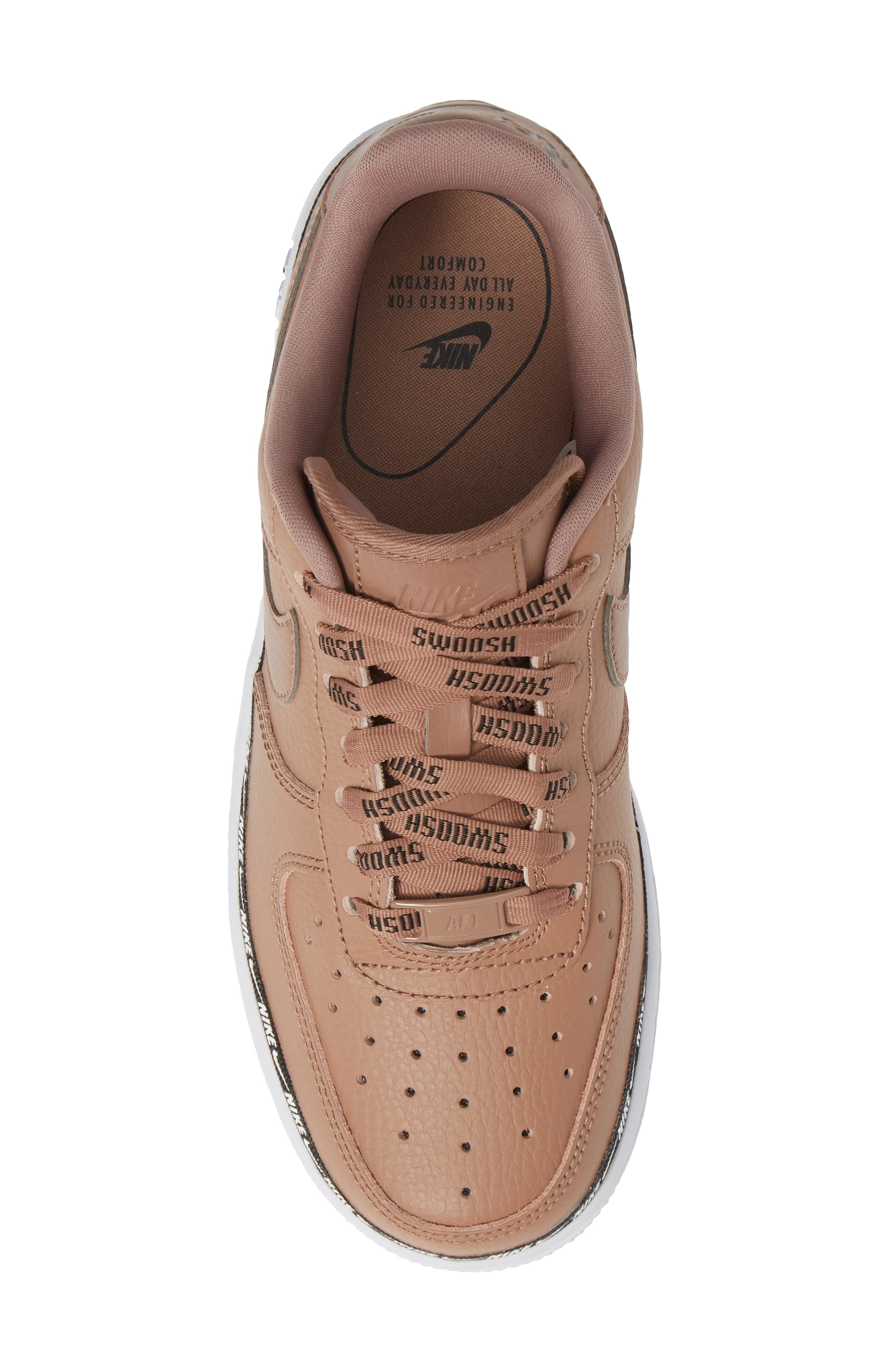 Air Force 1 '07 SE Premium Sneaker,                             Alternate thumbnail 5, color,                             DESERT DUST/ BLACK/ WHITE