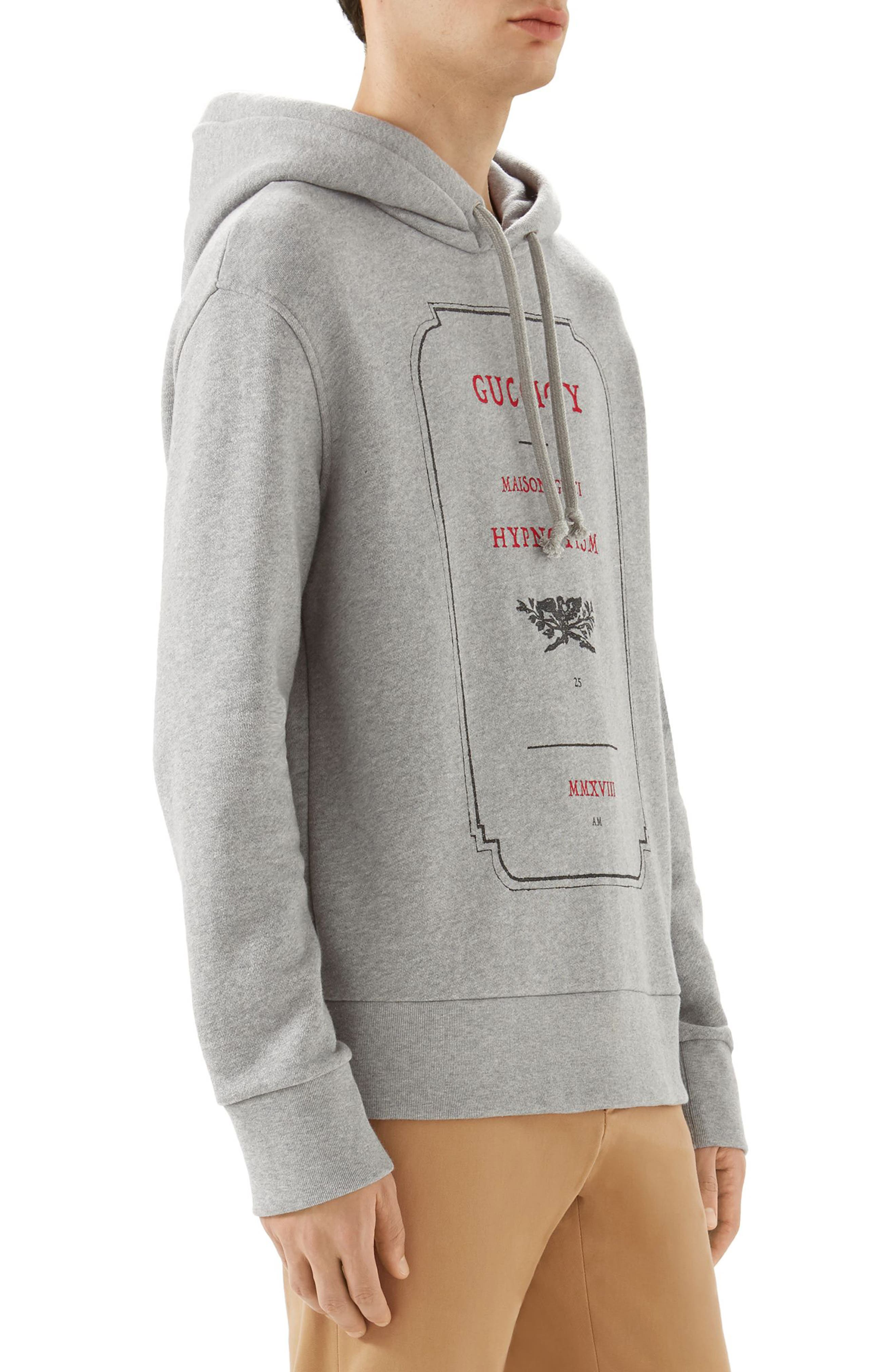 Invitation Graphic Hoodie,                             Alternate thumbnail 3, color,                             GREY MELANGE