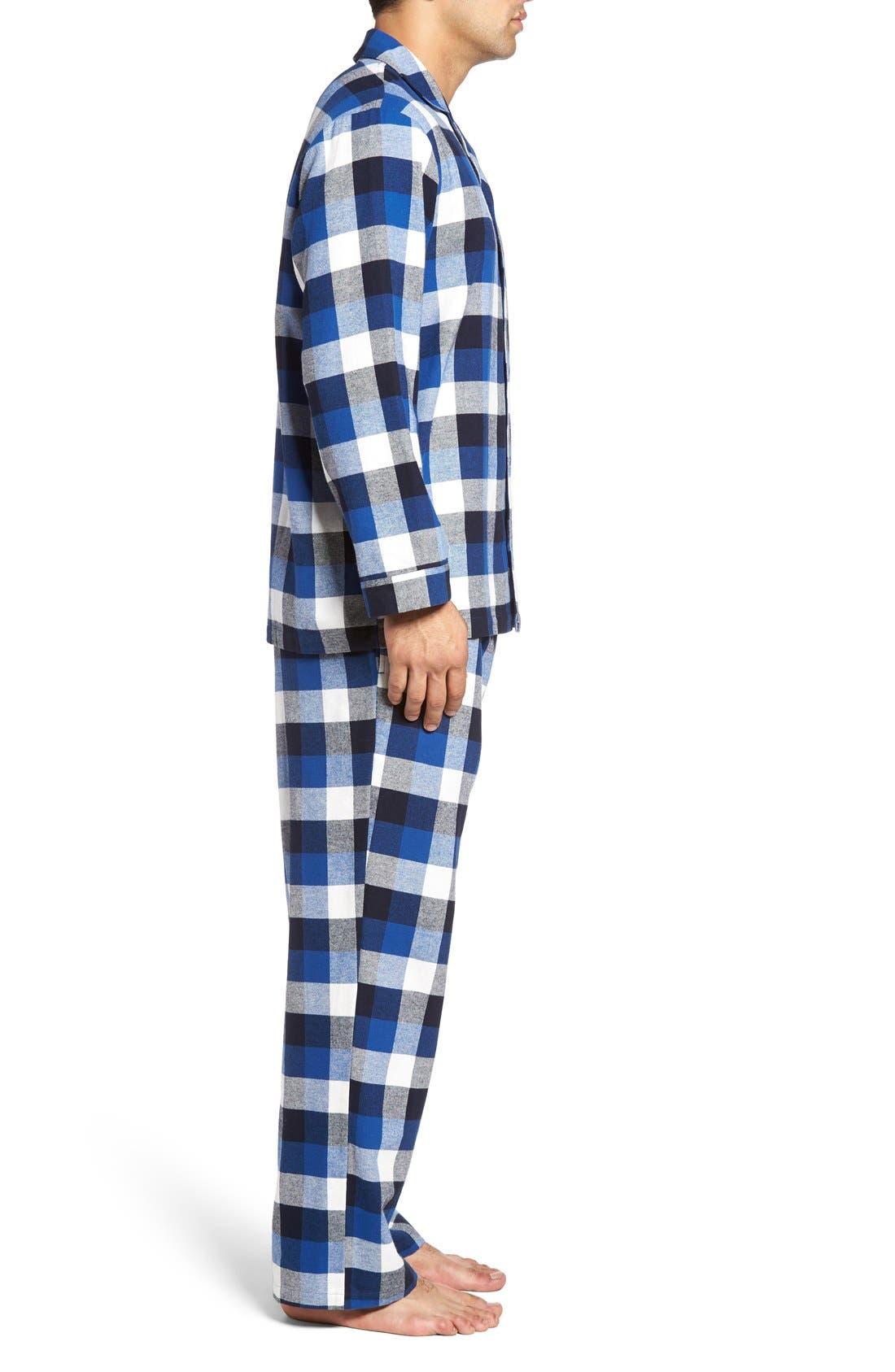 '824' Flannel Pajama Set,                             Alternate thumbnail 53, color,