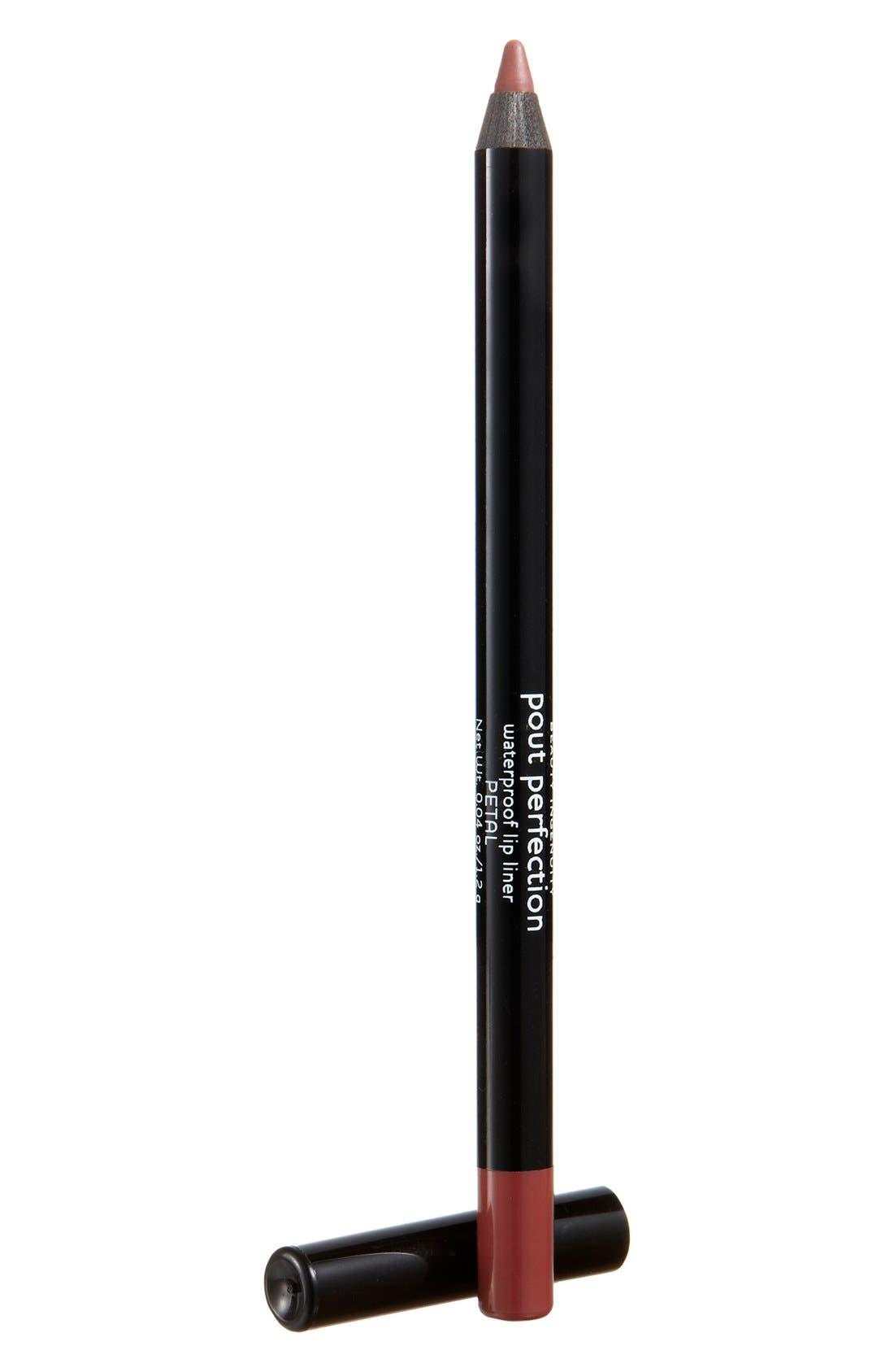 Pout Perfection Waterproof Lip Liner,                             Main thumbnail 1, color,                             PETAL