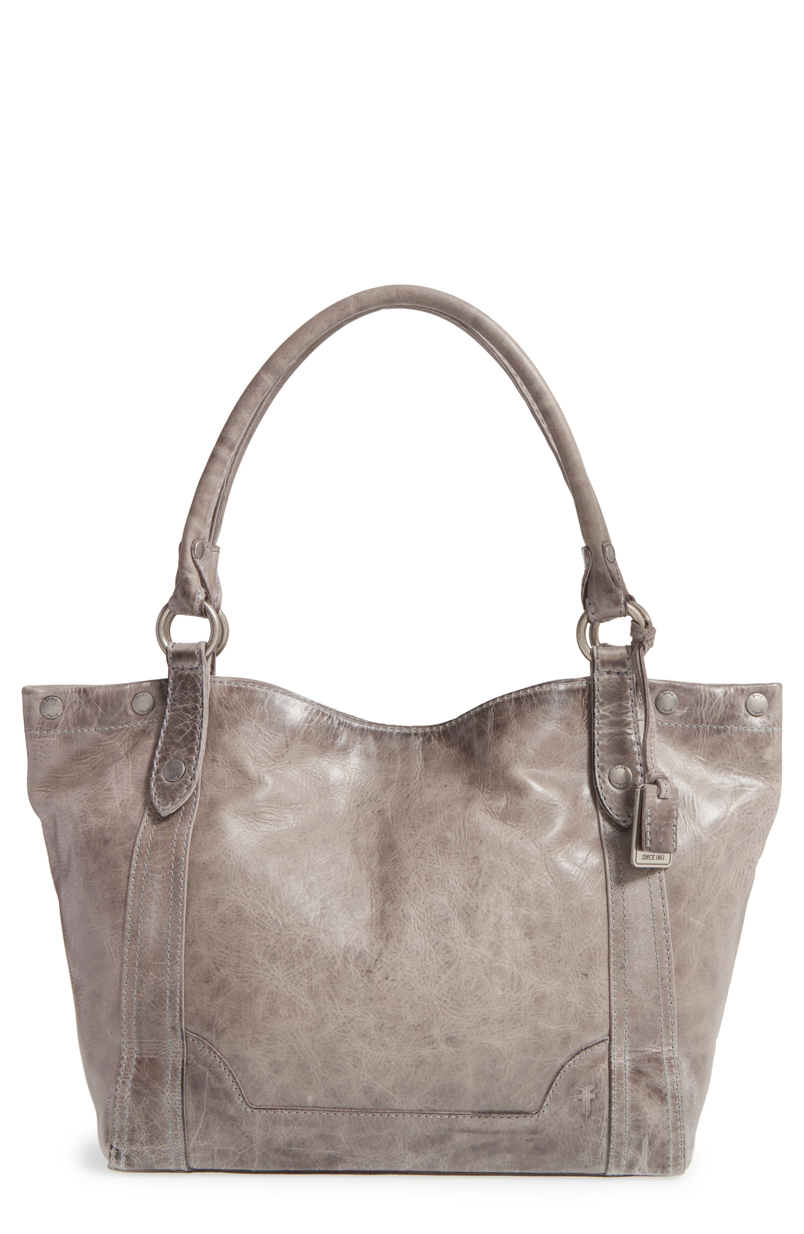 Melissa Leather Shoulder Bag,                             Main thumbnail 1, color,                             ICE