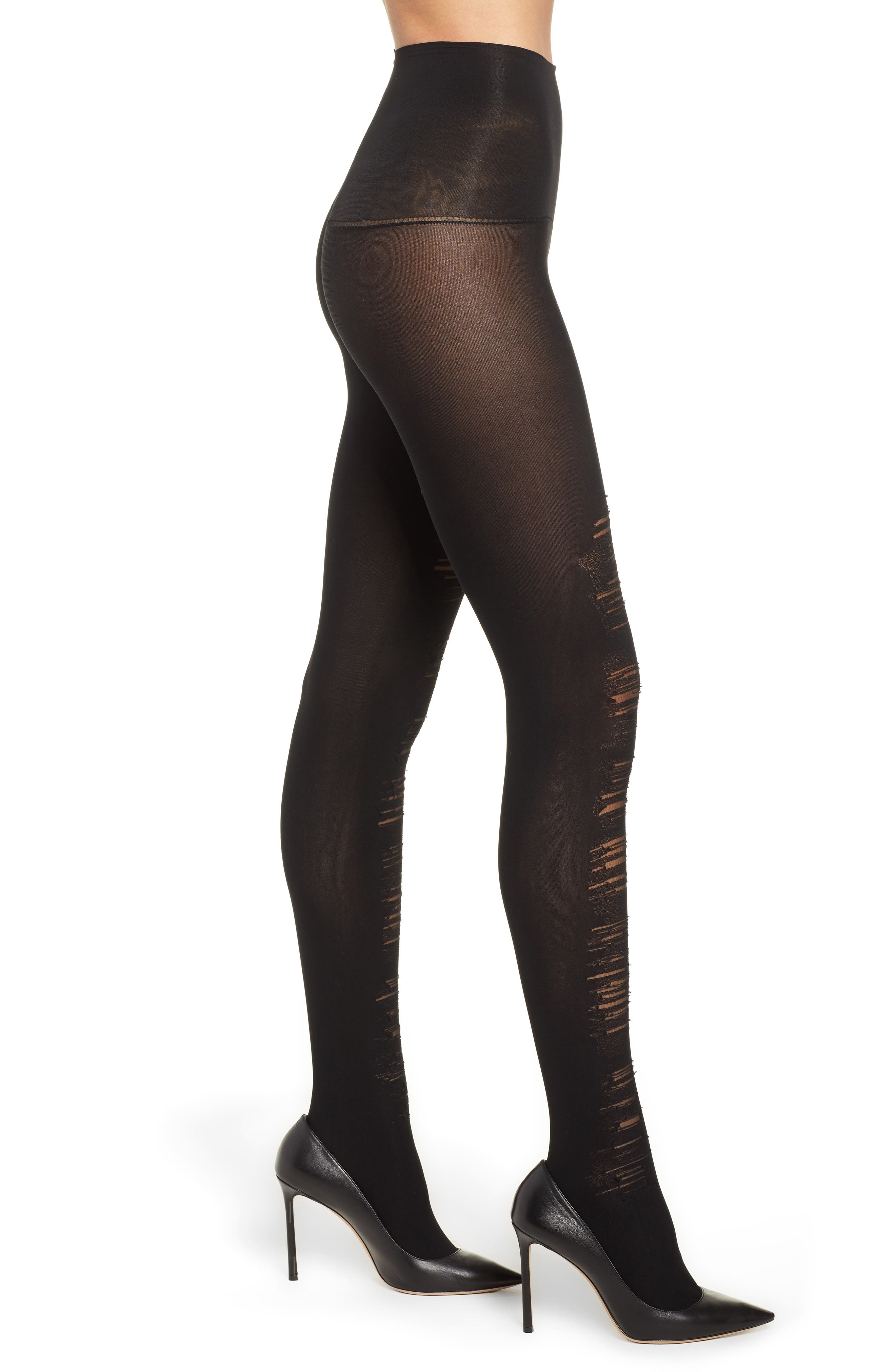 Destroyed Tummy Shaping Tights, Main, color, 019