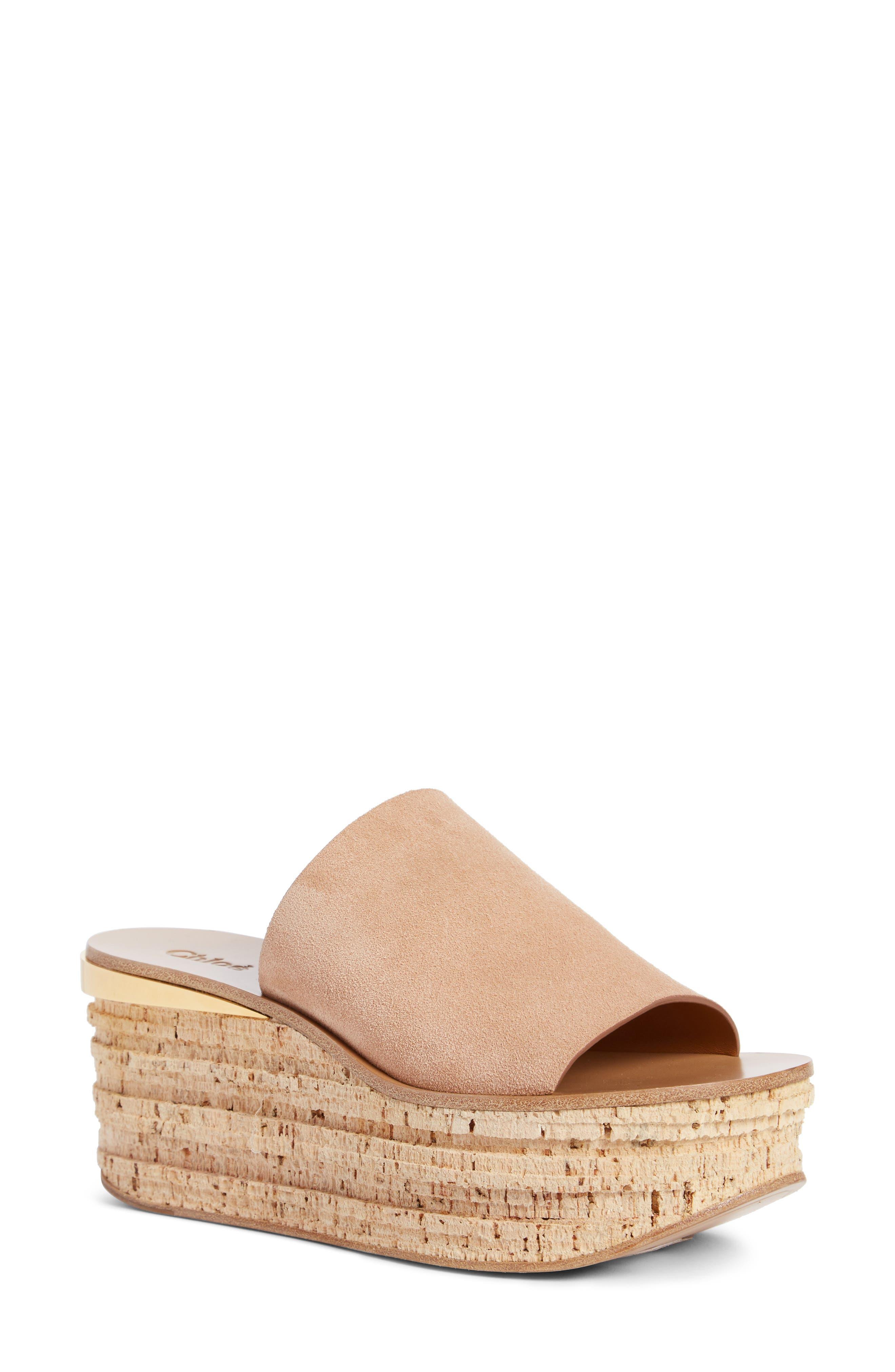 Camille Cork Platform Sandal,                             Main thumbnail 1, color,                             660