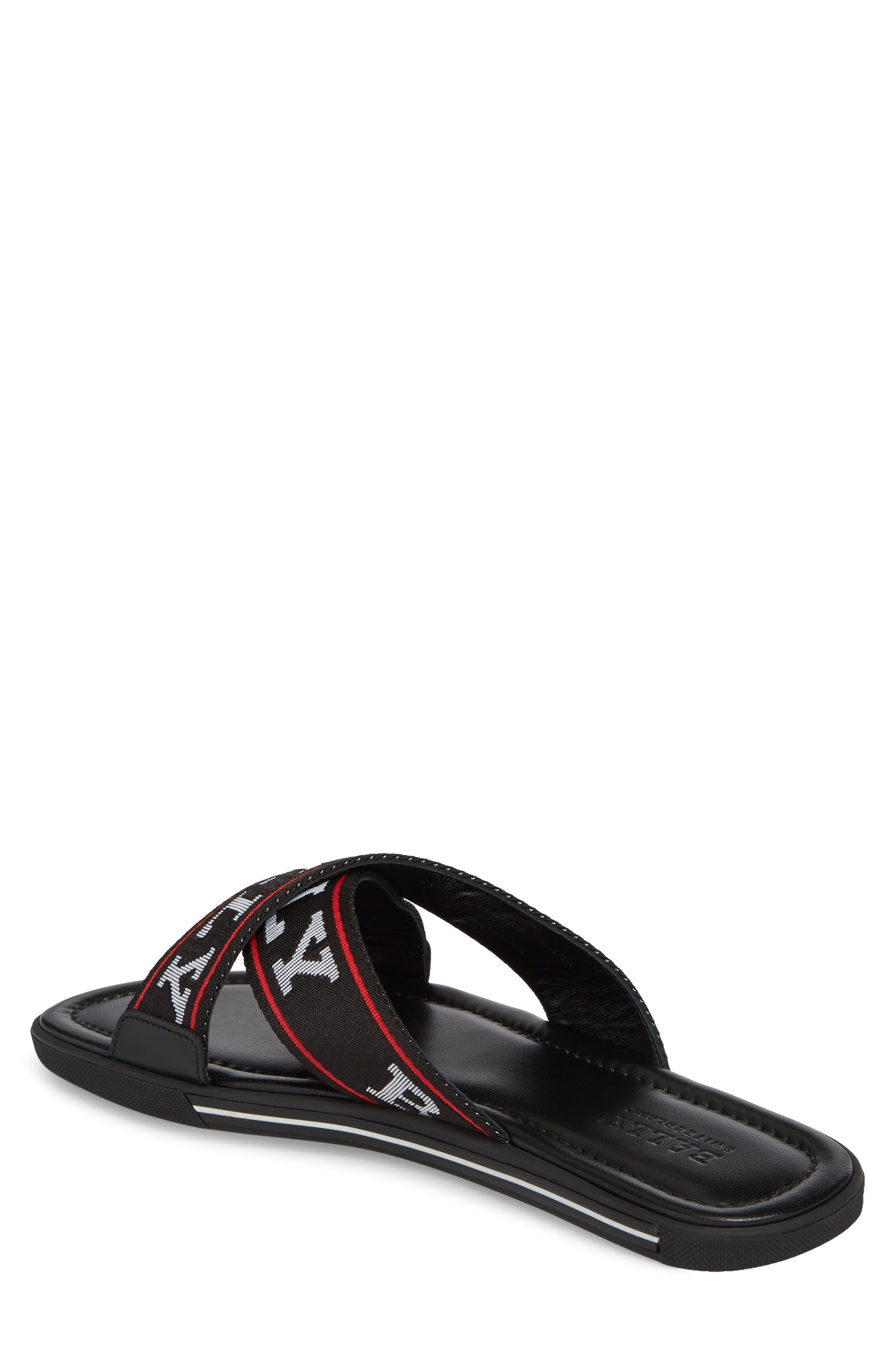 Bonks Logo Slide Sandal,                             Alternate thumbnail 2, color,                             BLACK/ BONE/ RED