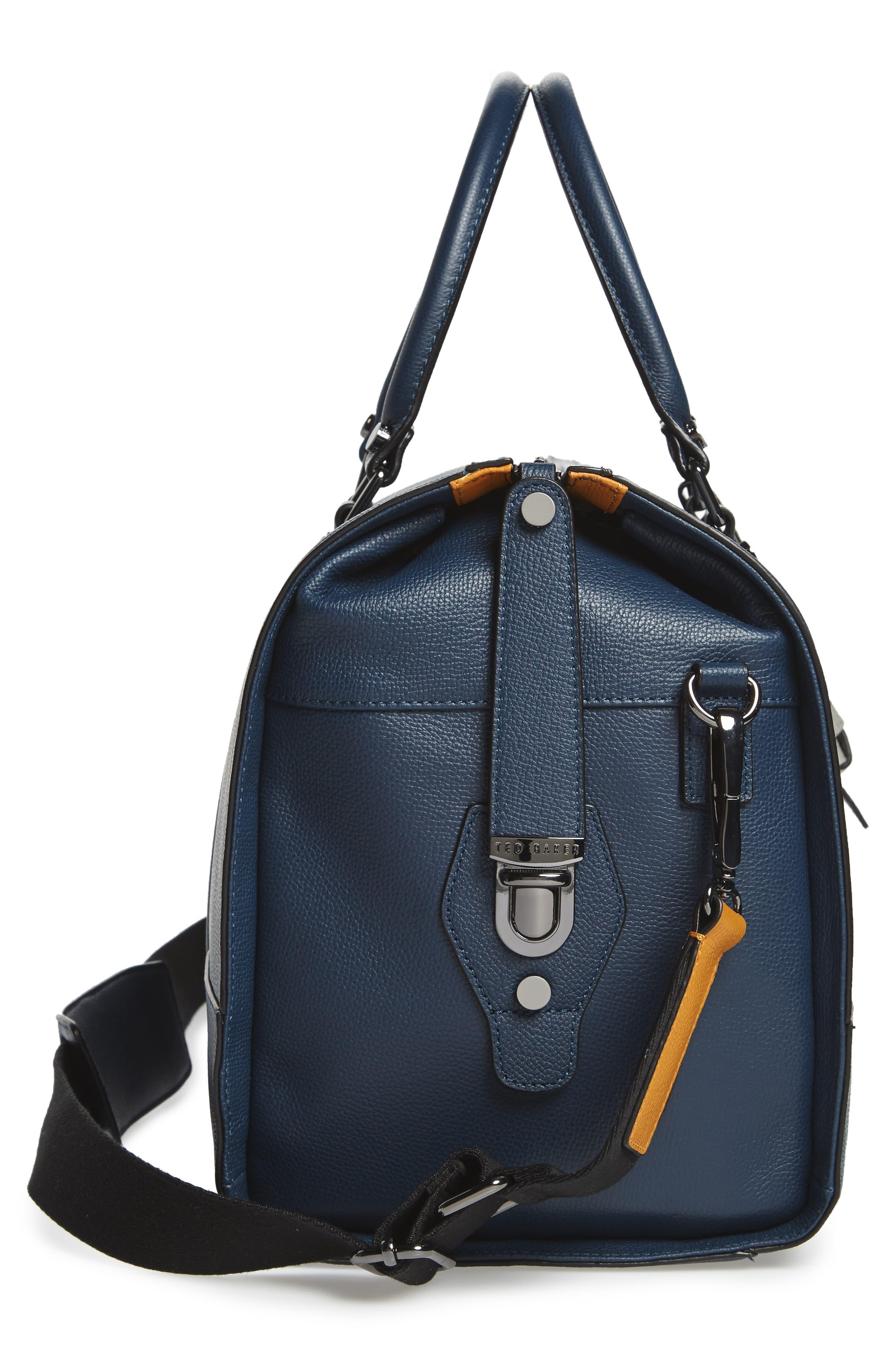 Leather Duffel Bag,                             Alternate thumbnail 14, color,