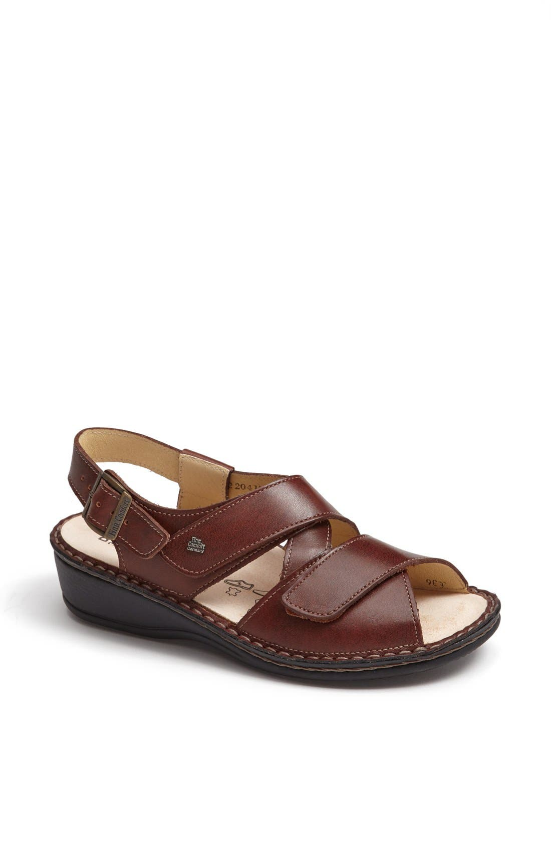 'Jersey' Sandal,                             Main thumbnail 1, color,                             BRANDY COUNTRY
