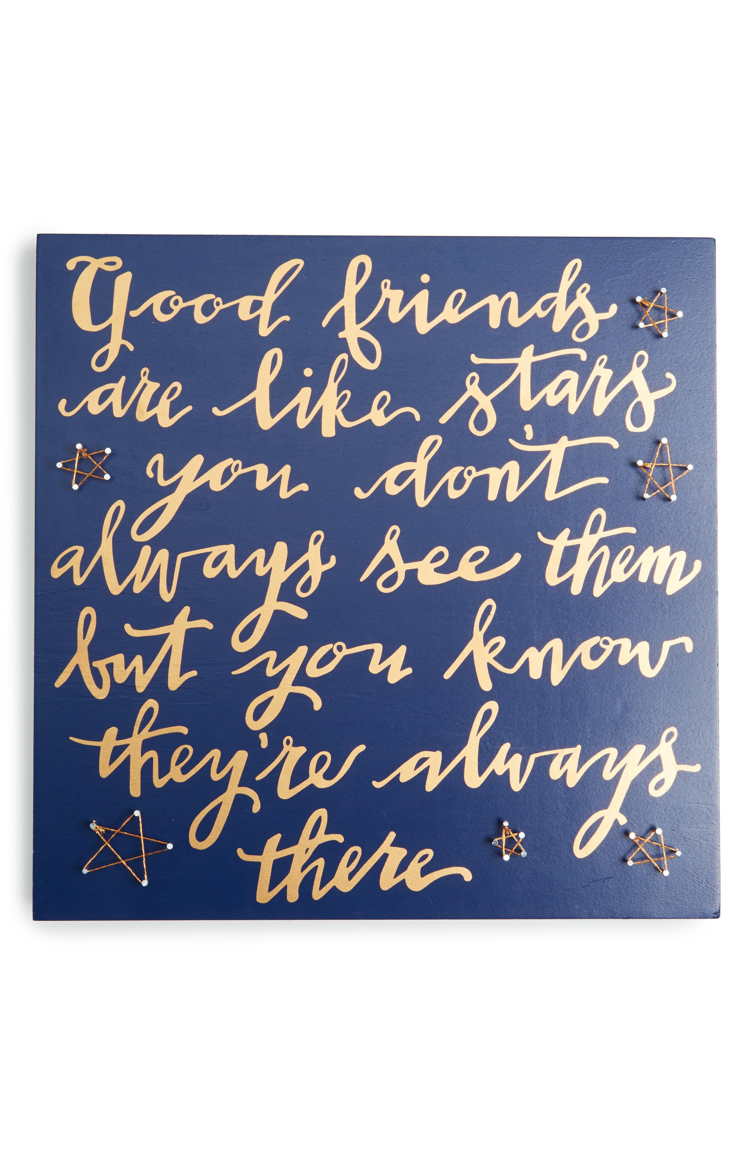 Good Friends Are Like Stars String Art Box Sign,                             Main thumbnail 1, color,