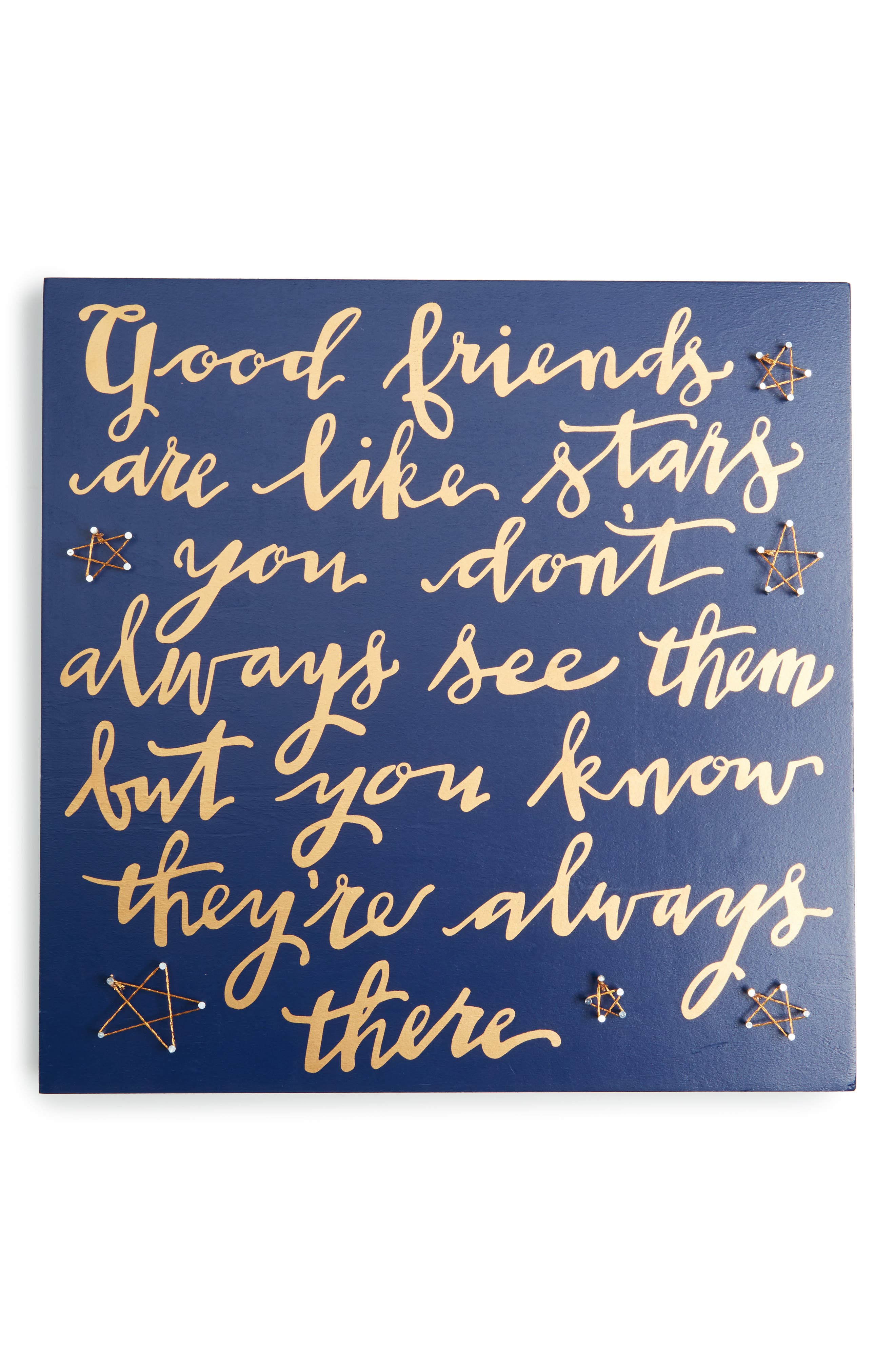 Good Friends Are Like Stars String Art Box Sign,                         Main,                         color,