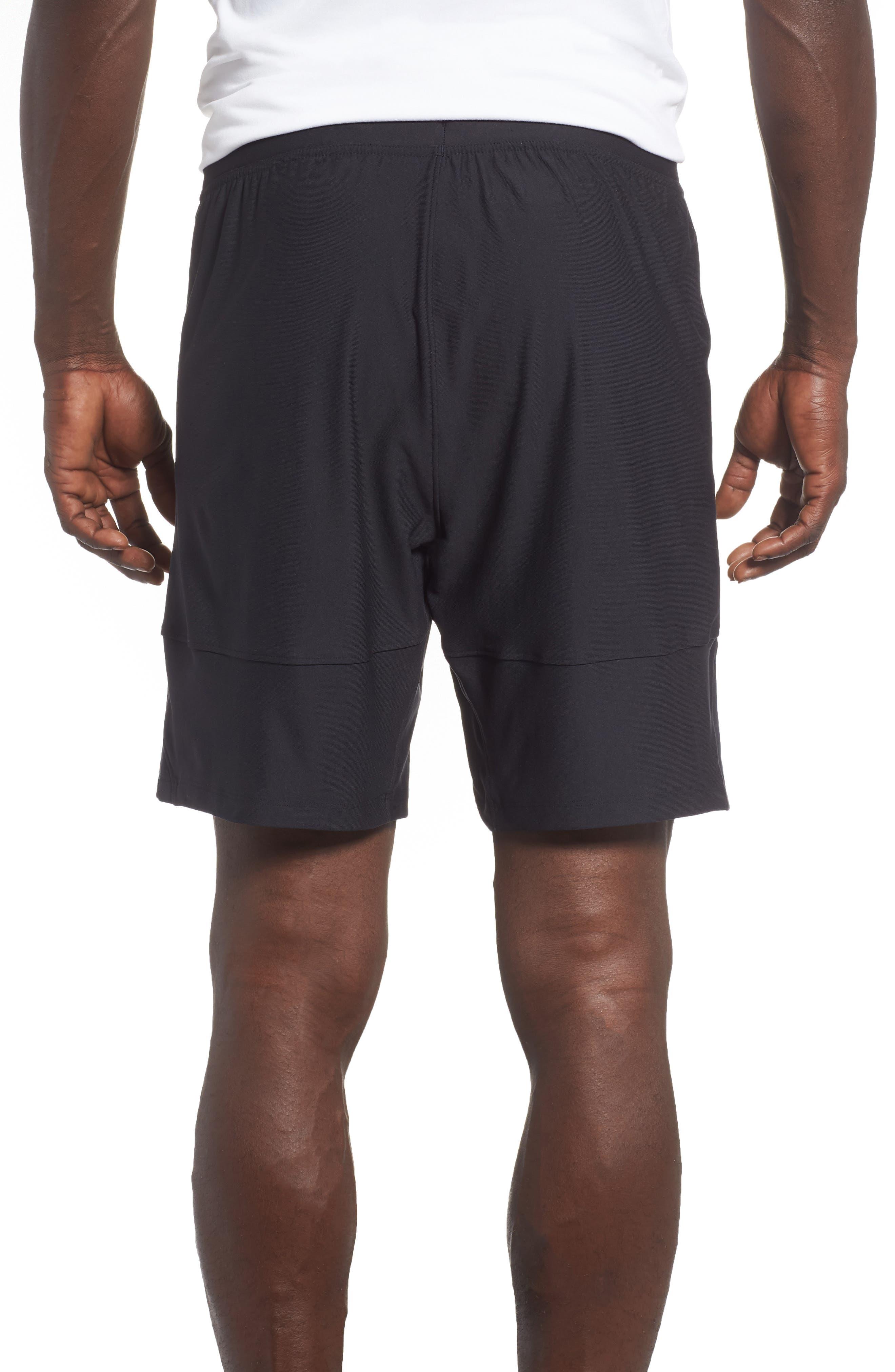 Threadborne Vanish Fitted Shorts,                             Alternate thumbnail 2, color,                             BLACK