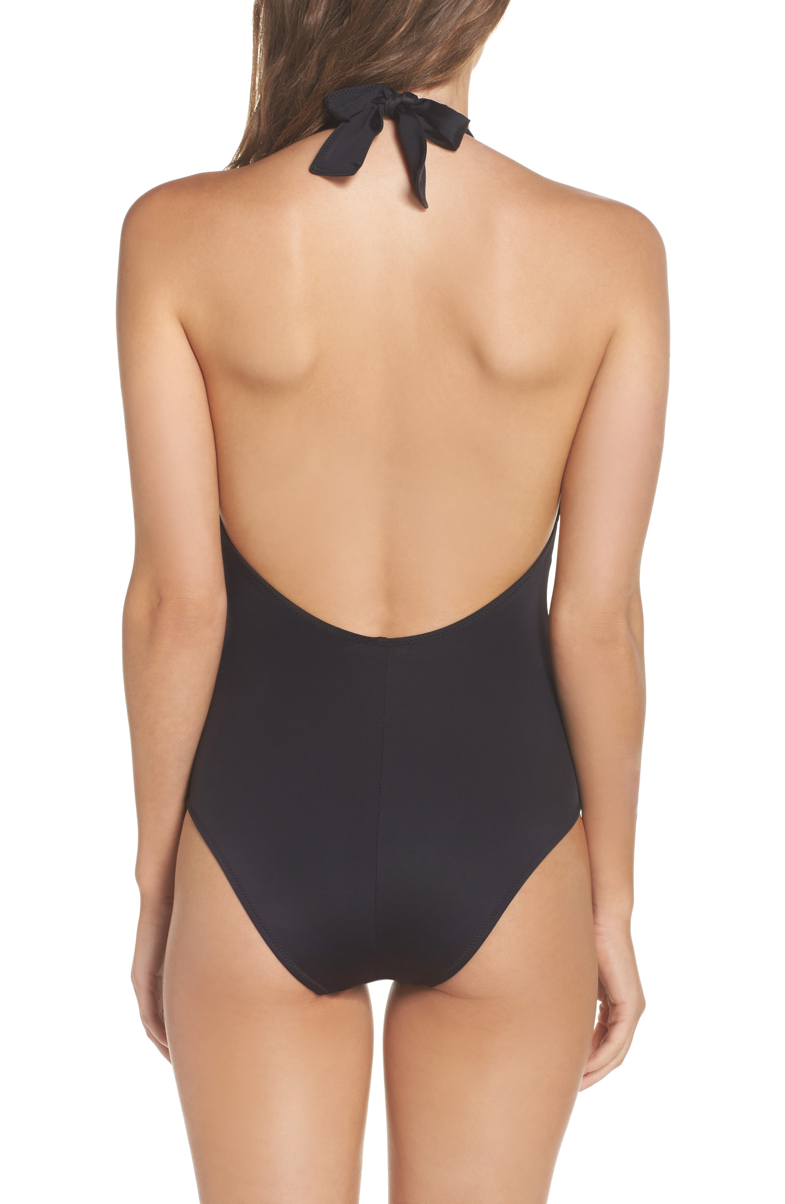 Willow Plunge One-Piece Swimsuit,                             Alternate thumbnail 2, color,                             001