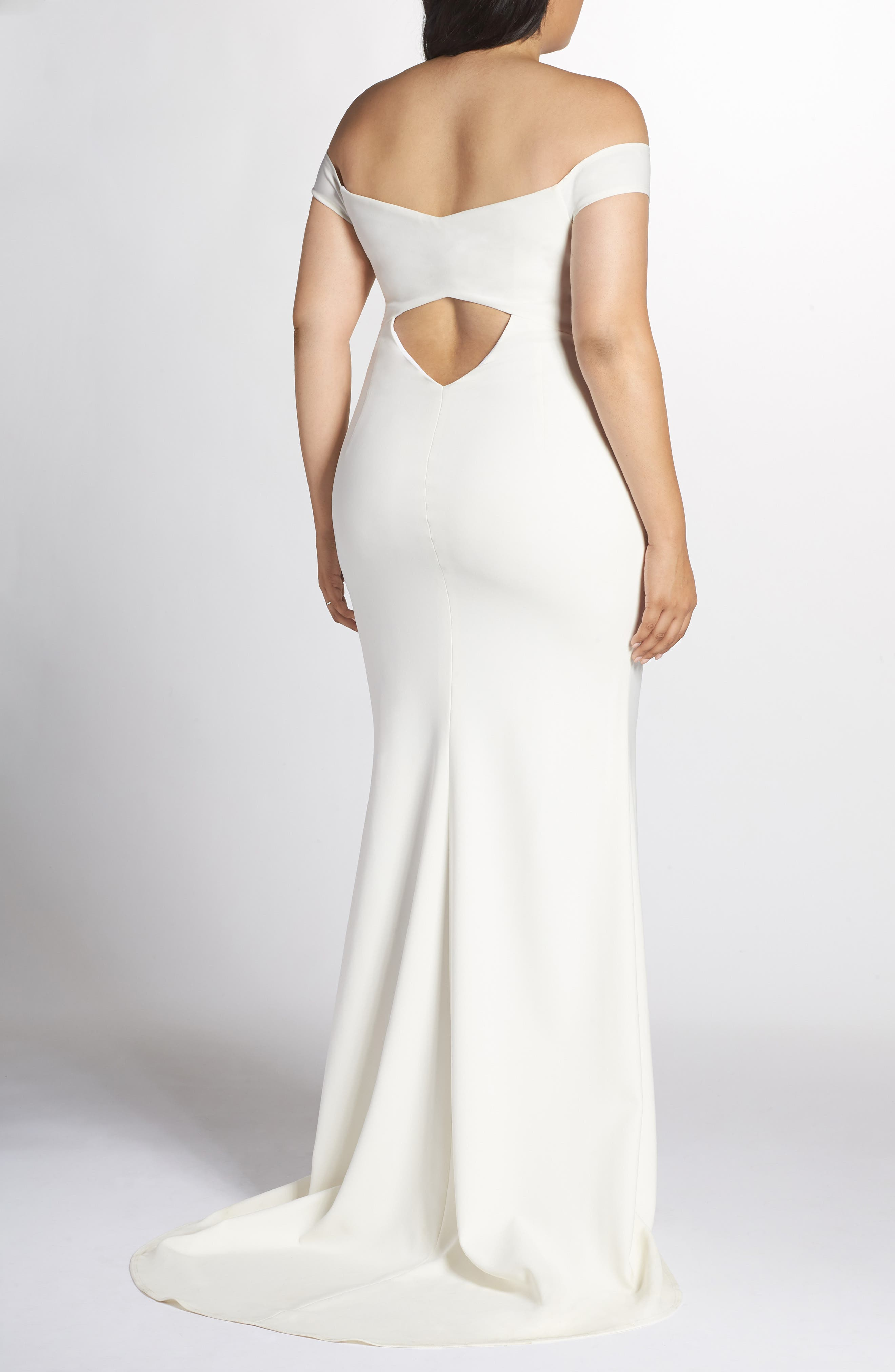NOEL AND JEAN BY KATIE MAY,                             Alpha Off the Shoulder Dress,                             Alternate thumbnail 2, color,                             IVORY