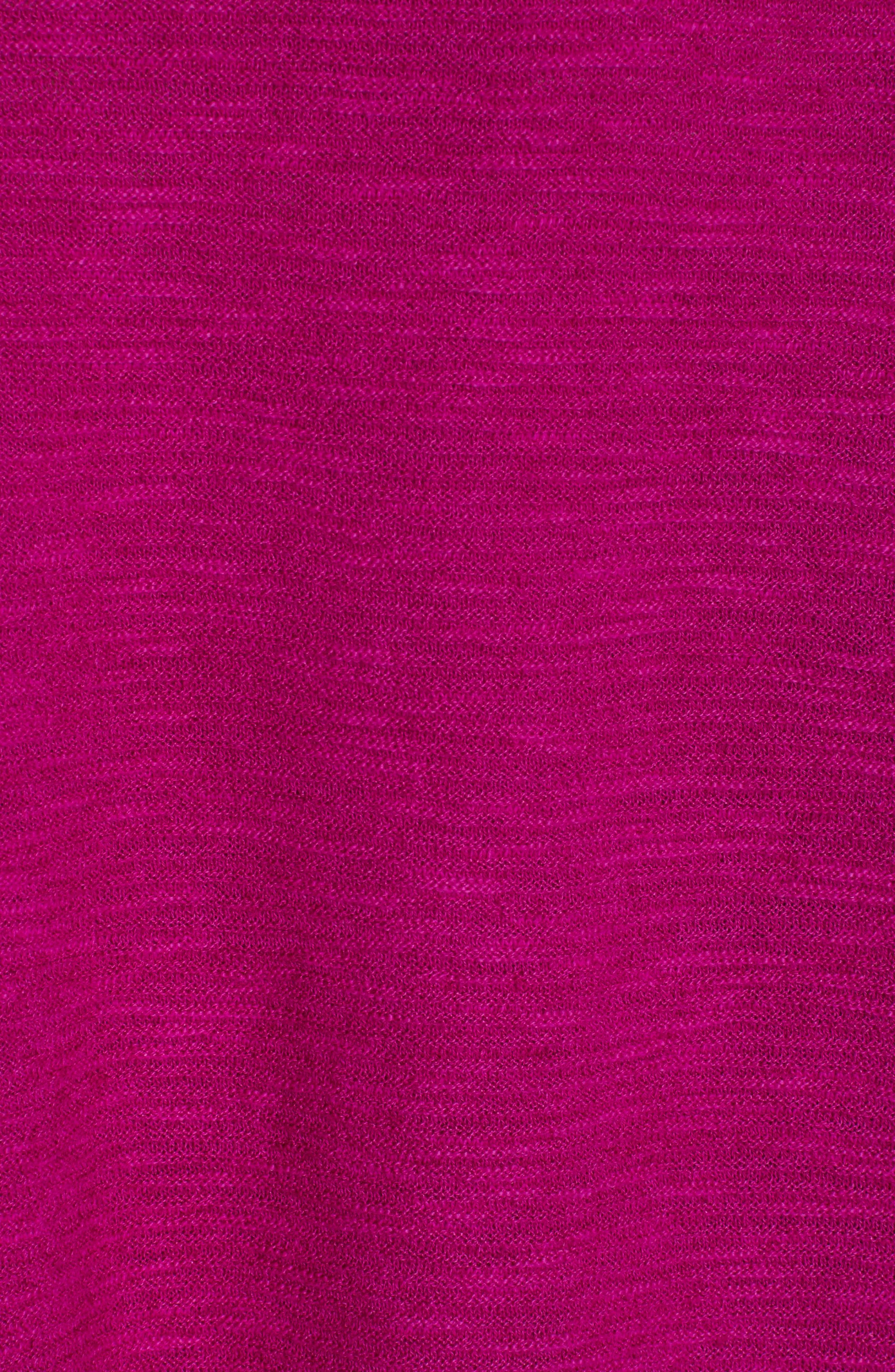 Bateau Neck Linen & Cotton Box Top,                             Alternate thumbnail 5, color,                             CERISE