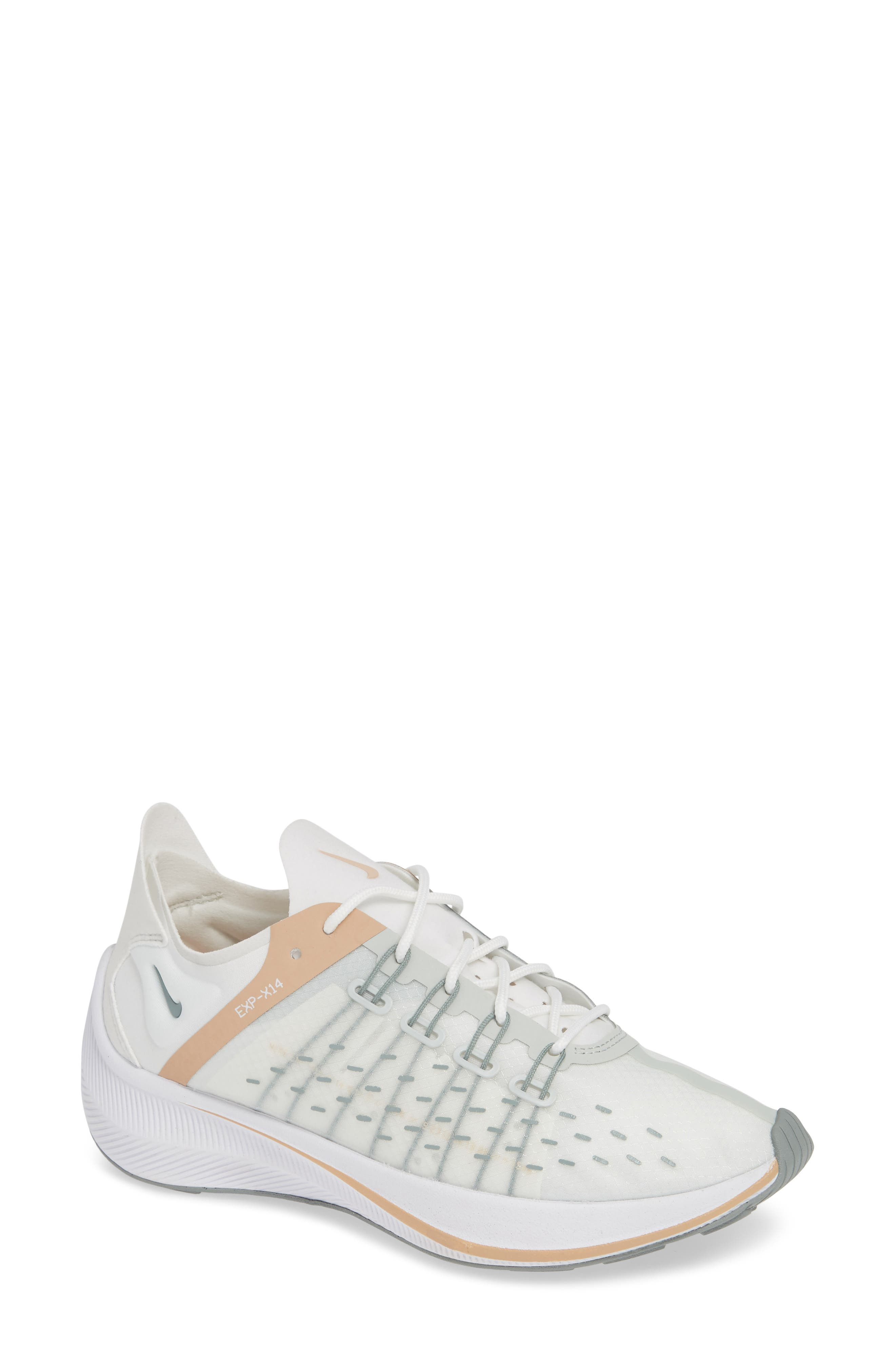 EXP-X14 Sneaker,                             Main thumbnail 1, color,                             SUMMIT WHITE/ LIGHT SILVER