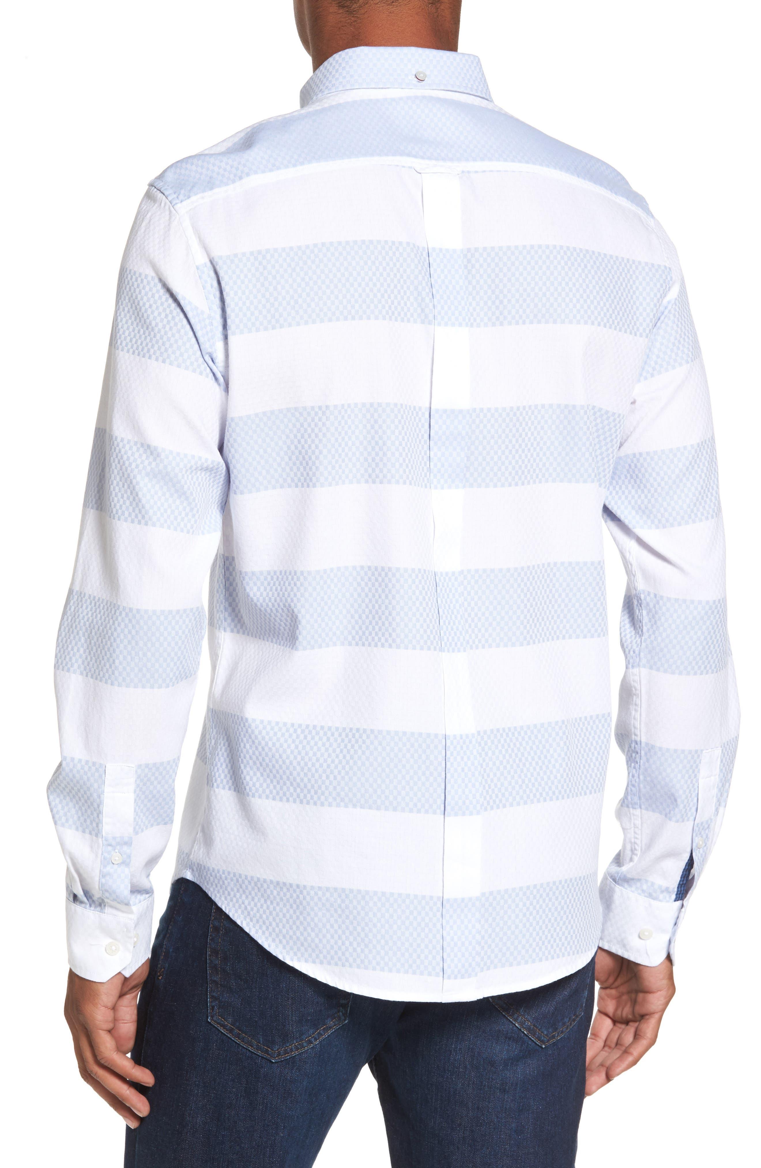 Dobby Gingham Stripes Shirt,                             Alternate thumbnail 2, color,