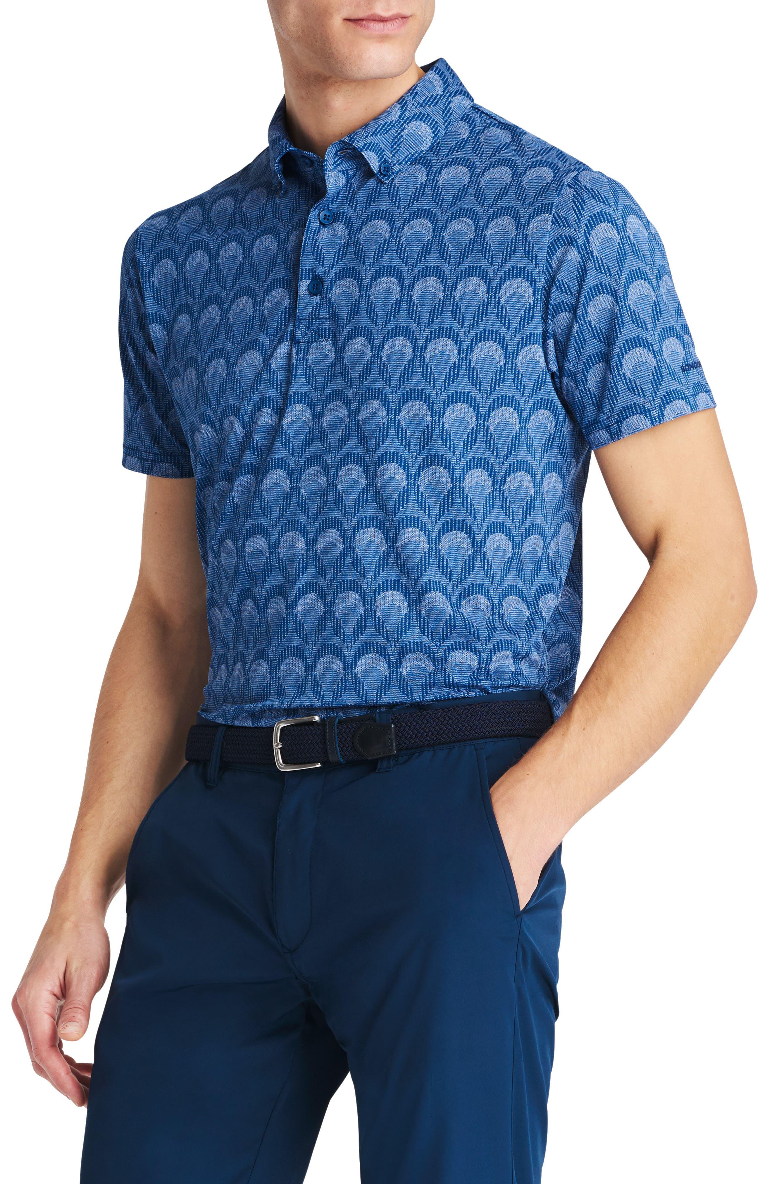 Flatiron Slim Fit Print Golf Polo,                             Alternate thumbnail 2, color,                             400