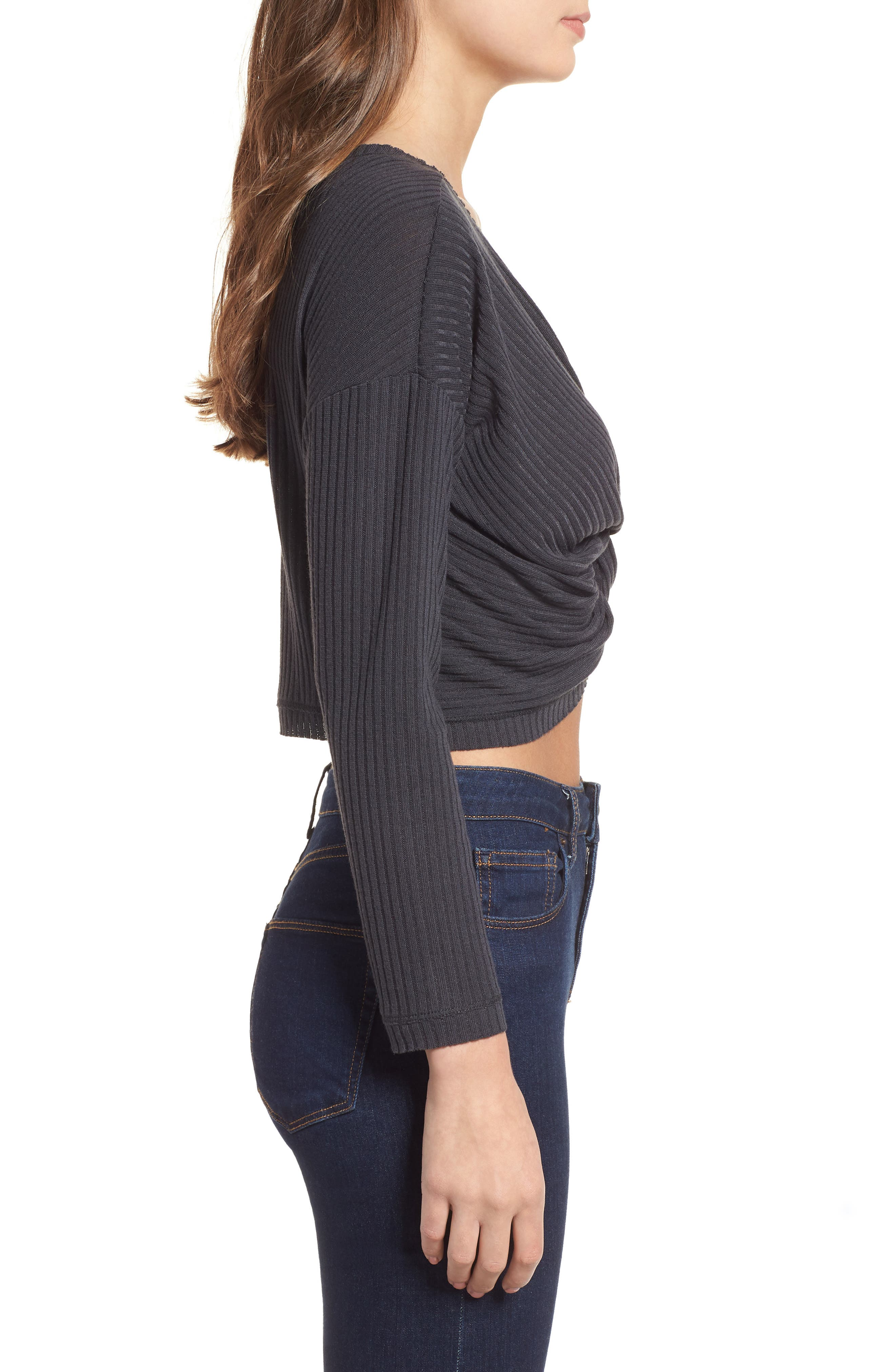 Twist Front Cropped Top,                             Alternate thumbnail 3, color,                             020
