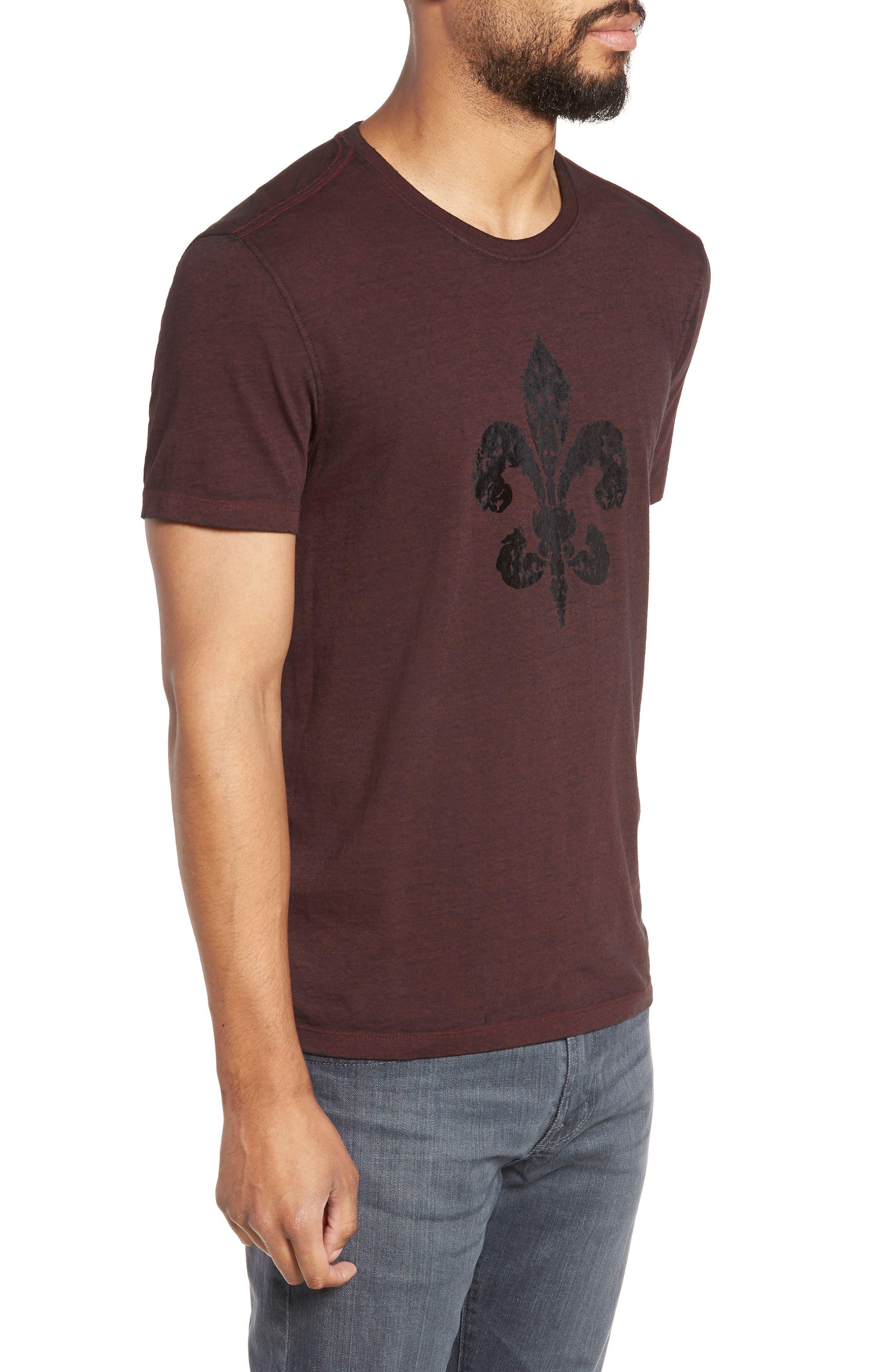 Fleur de Lis Graphic T-Shirt,                             Alternate thumbnail 3, color,                             930