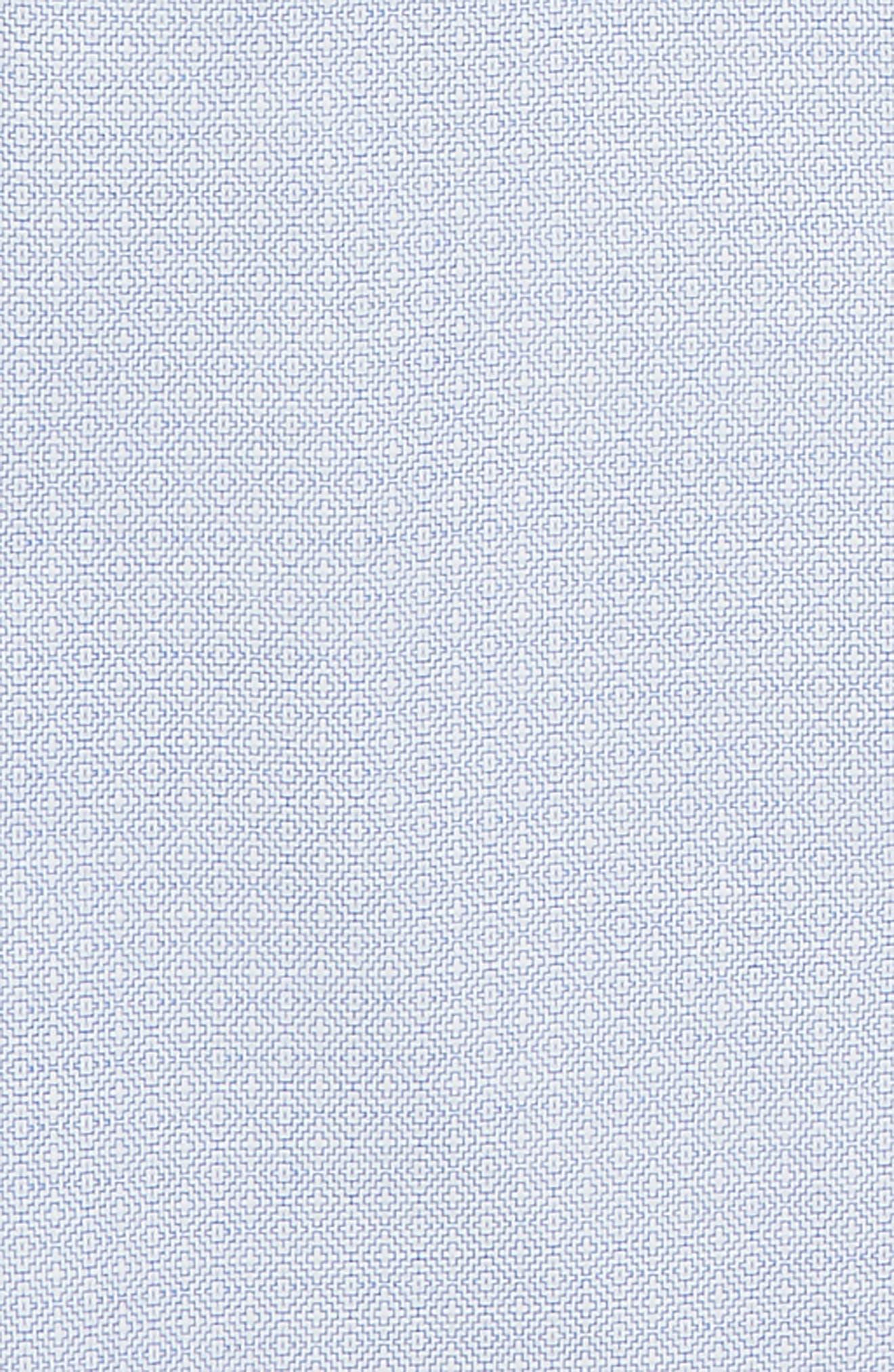 Tile Pattern Dress Shirt,                             Alternate thumbnail 2, color,                             BLUE