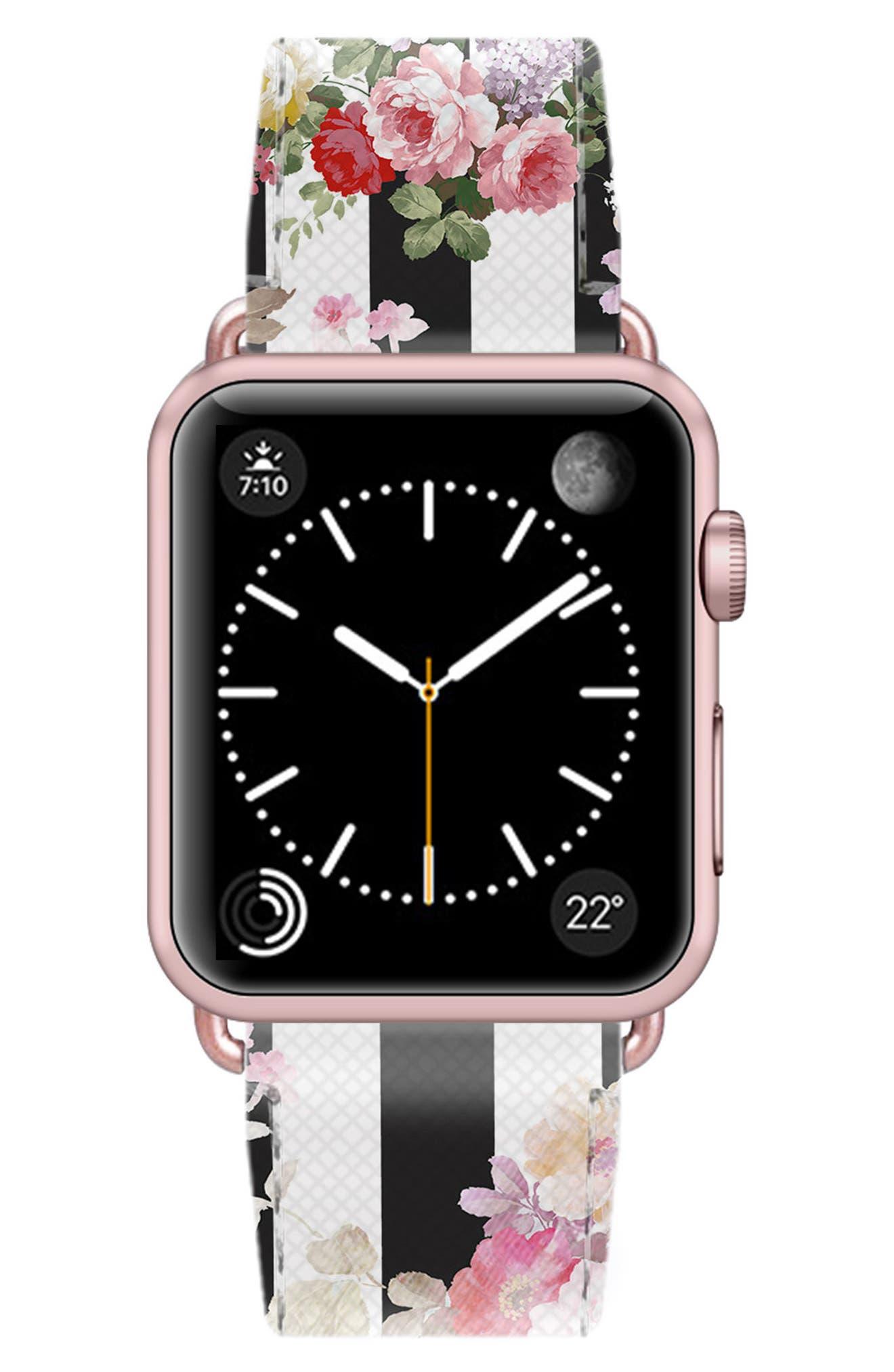 Saffiano Faux Leather Apple Watch Strap,                             Alternate thumbnail 35, color,