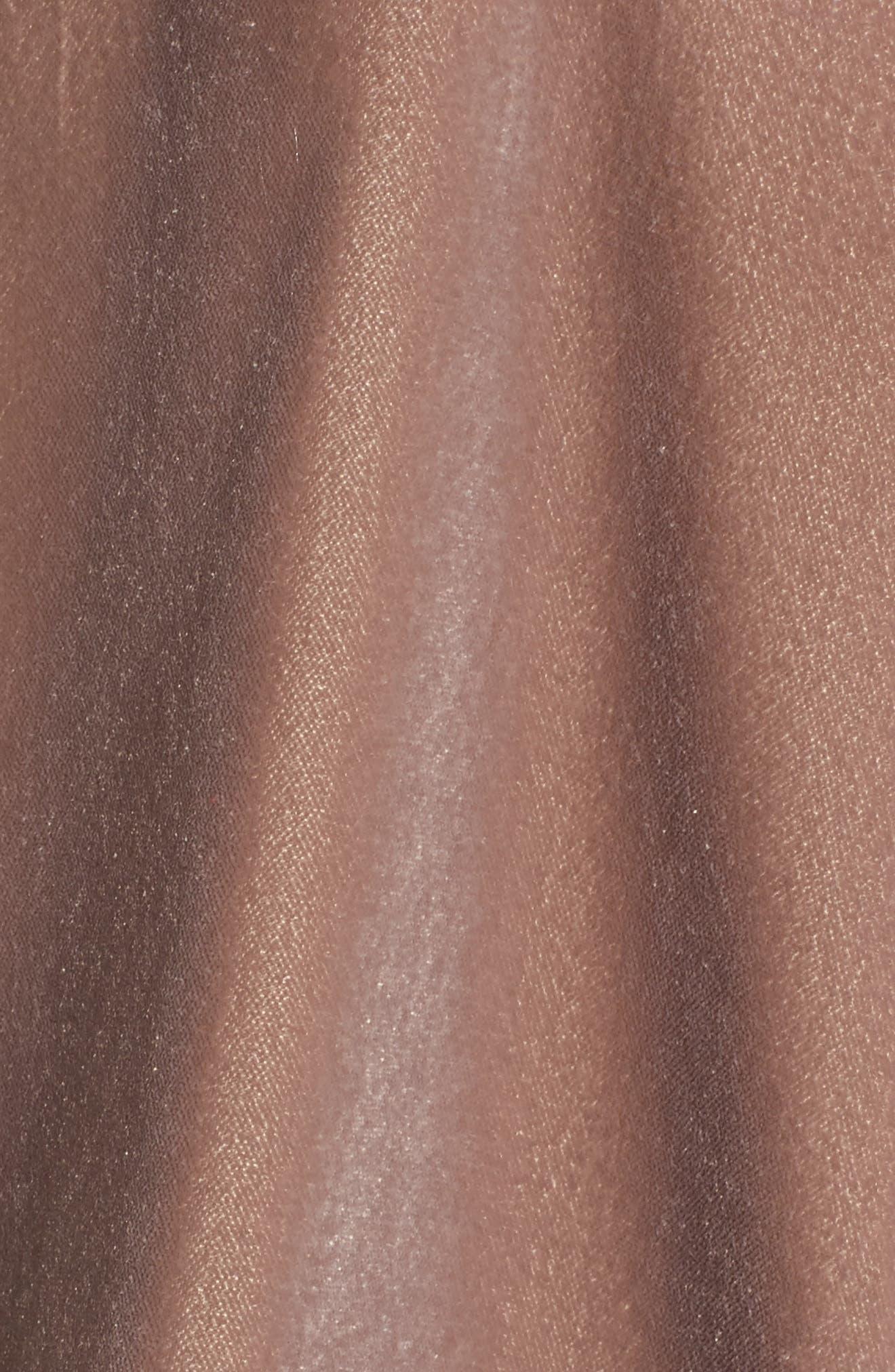 Amaryllis Appliqué Velvet Top,                             Alternate thumbnail 5, color,                             PURPLE