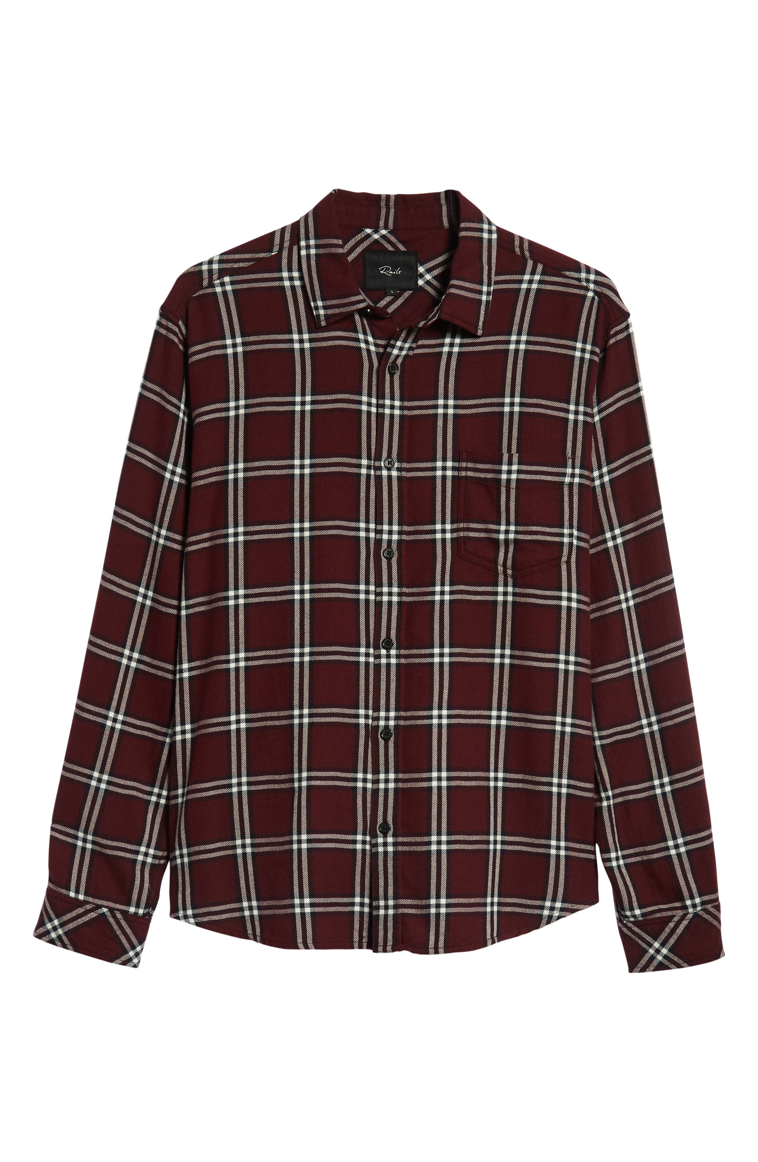 Lennox Regular Fit Plaid Sport Shirt,                             Alternate thumbnail 5, color,                             001