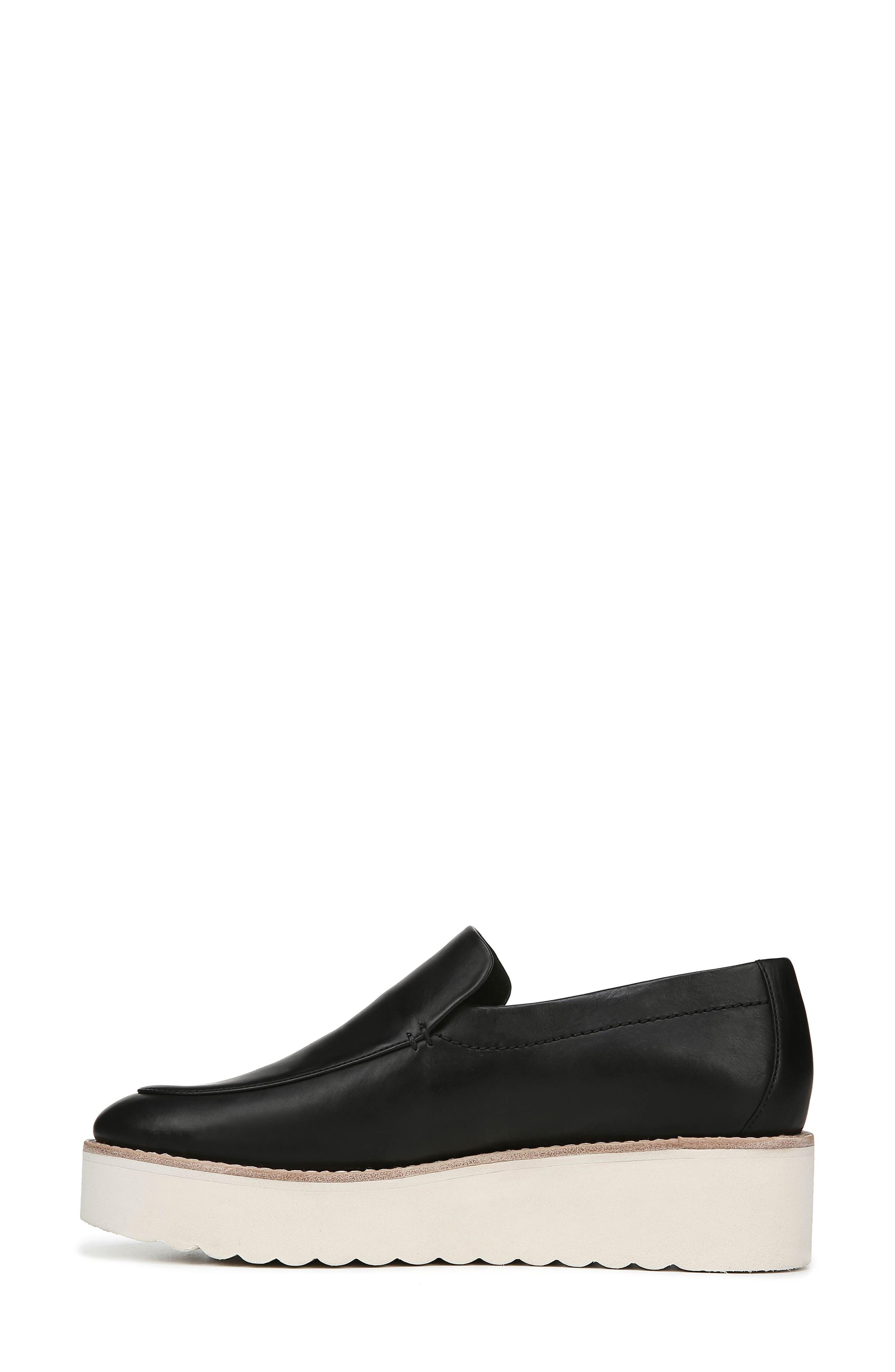 Zeta Platform Loafer,                             Alternate thumbnail 9, color,                             BLACK FOULARD LEATHER