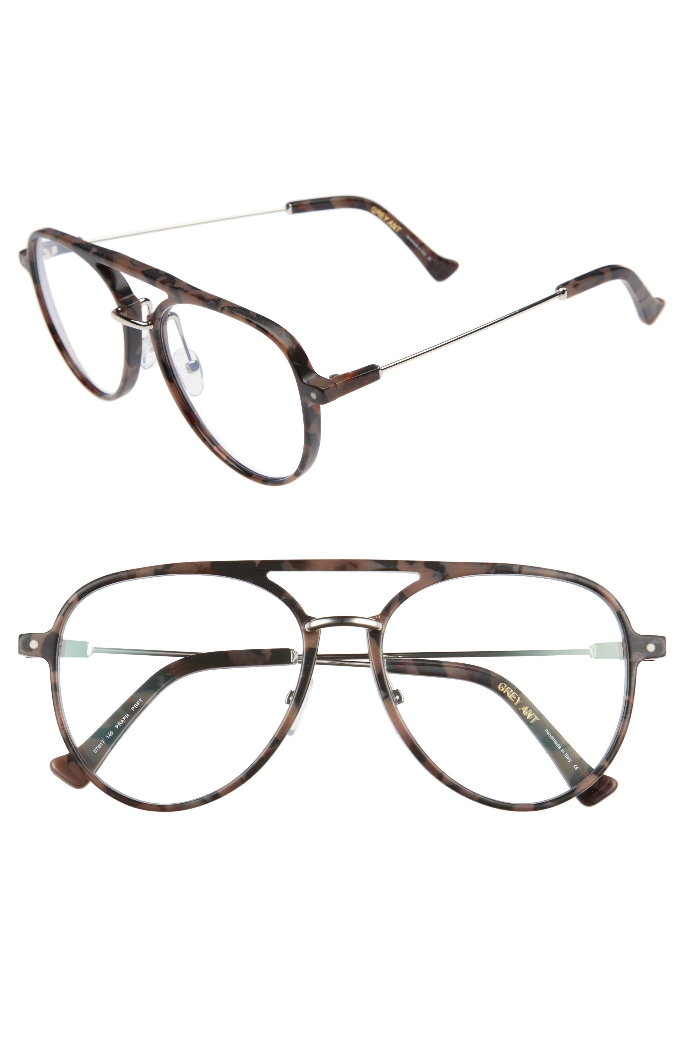 Praph 57mm Optical Glasses,                             Main thumbnail 1, color,                             ROSE TORTOISE/ OPTICAL