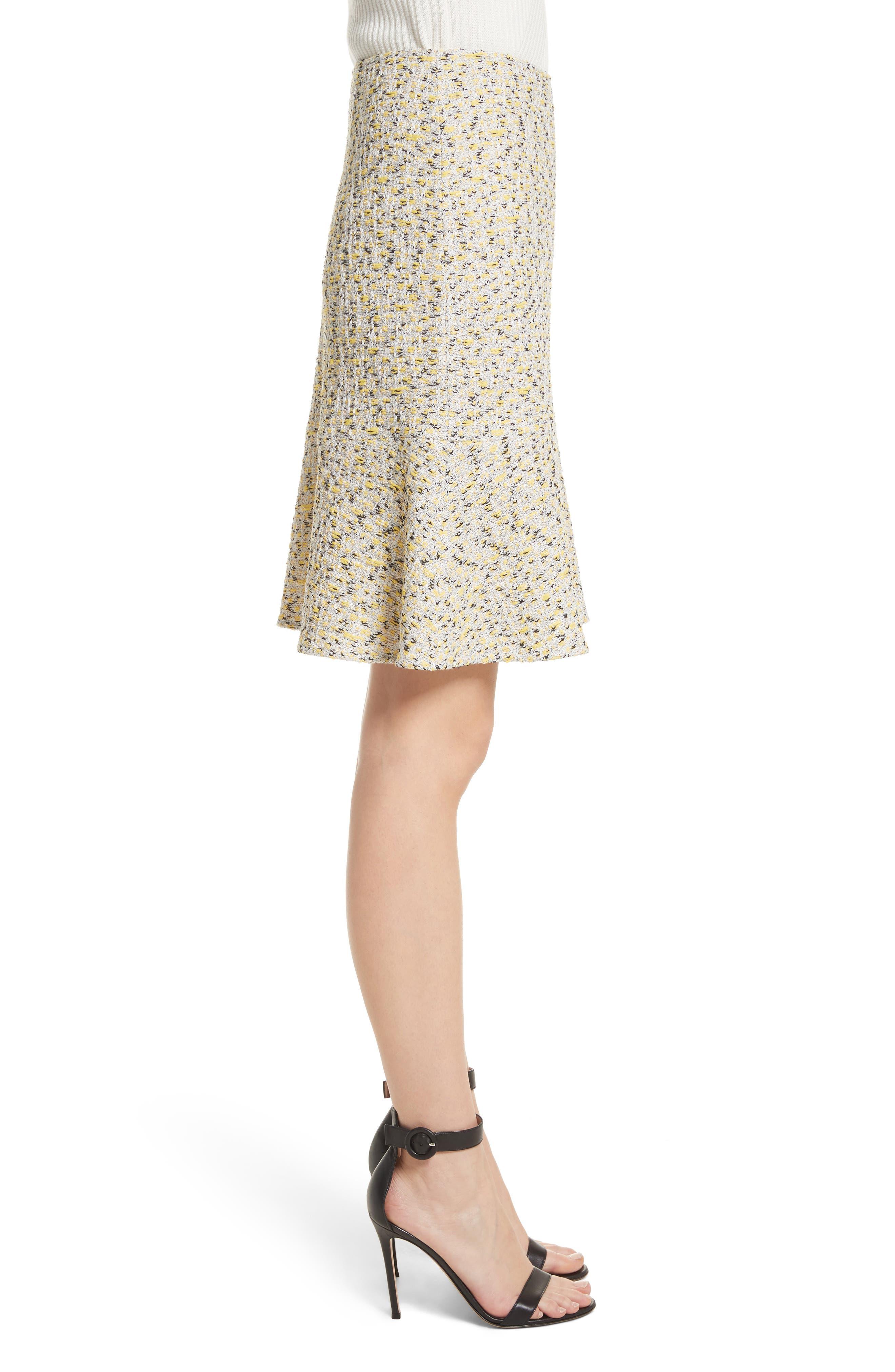 Romee Tweed Fit & Flare Skirt,                             Alternate thumbnail 3, color,                             730