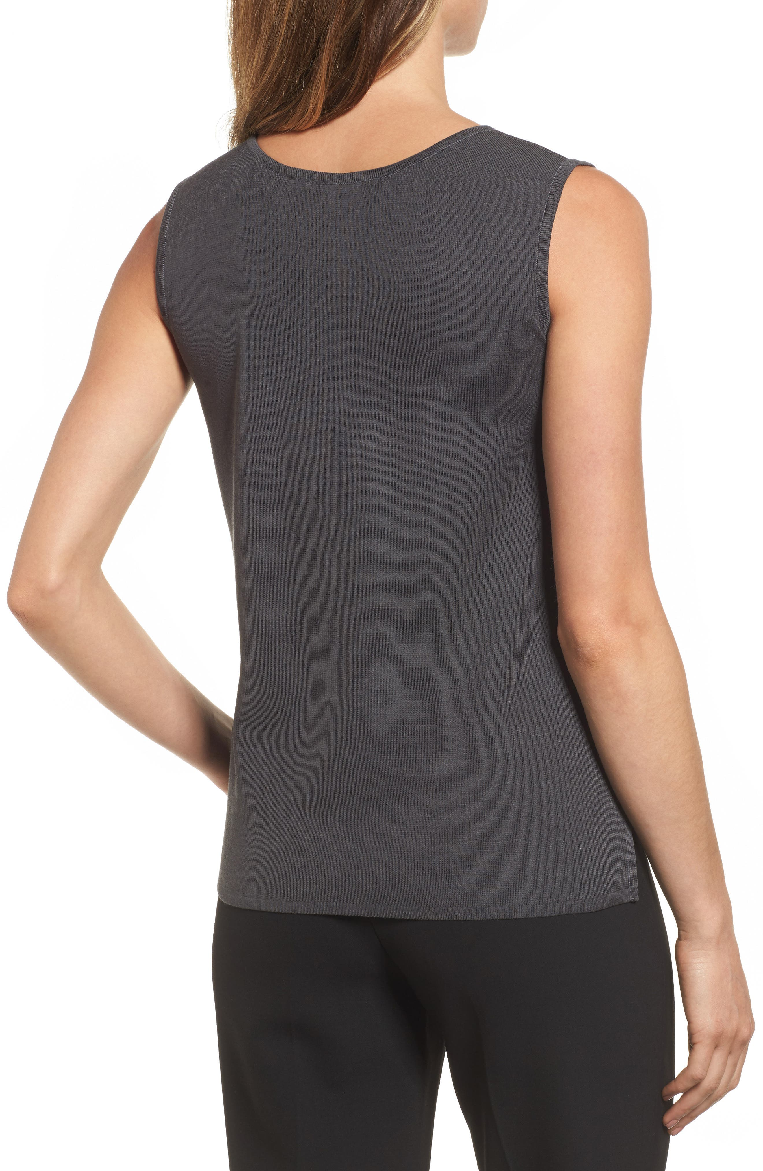 Scoop Neck Knit Tank,                             Alternate thumbnail 2, color,                             020