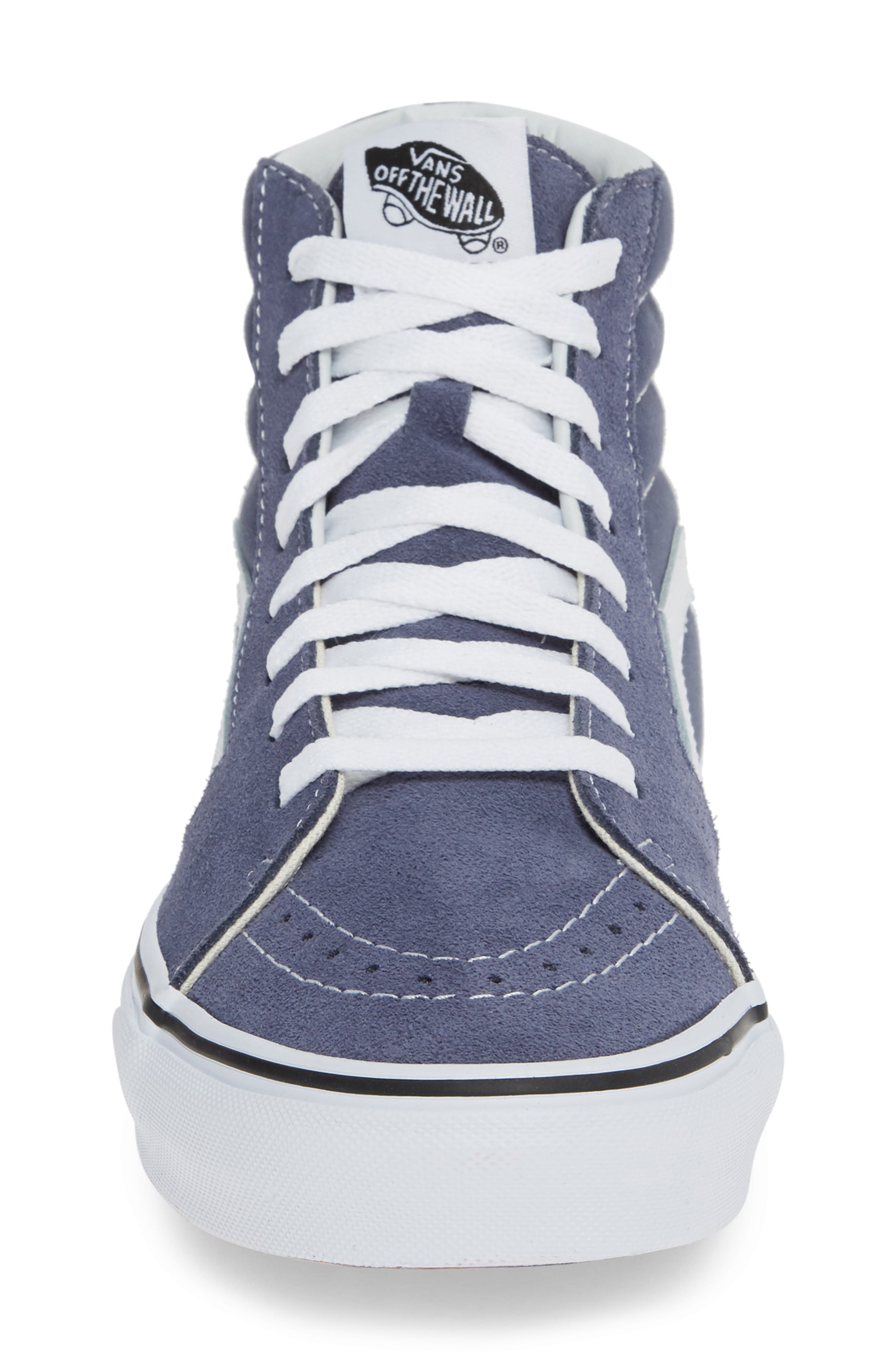 'Sk8-Hi' Sneaker,                             Alternate thumbnail 4, color,                             GREY/ TRUE WHITE