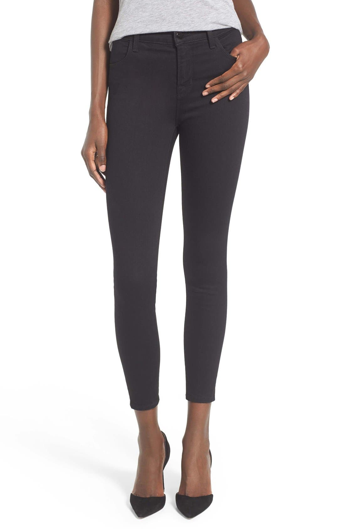 Alana High Waist Crop Skinny Jeans,                             Main thumbnail 1, color,                             002
