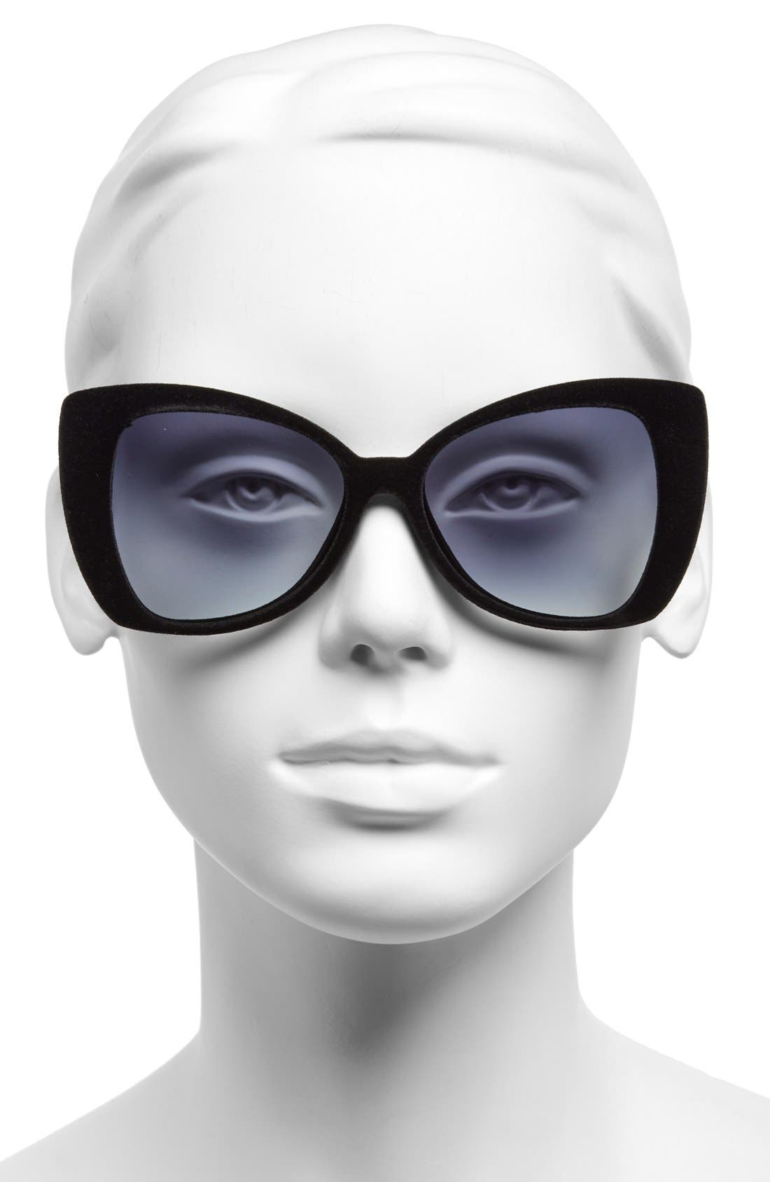 ITALIA INDEPENDENT,                             'I-V' 65mm Oversize Butterfly Sunglasses,                             Alternate thumbnail 2, color,                             001