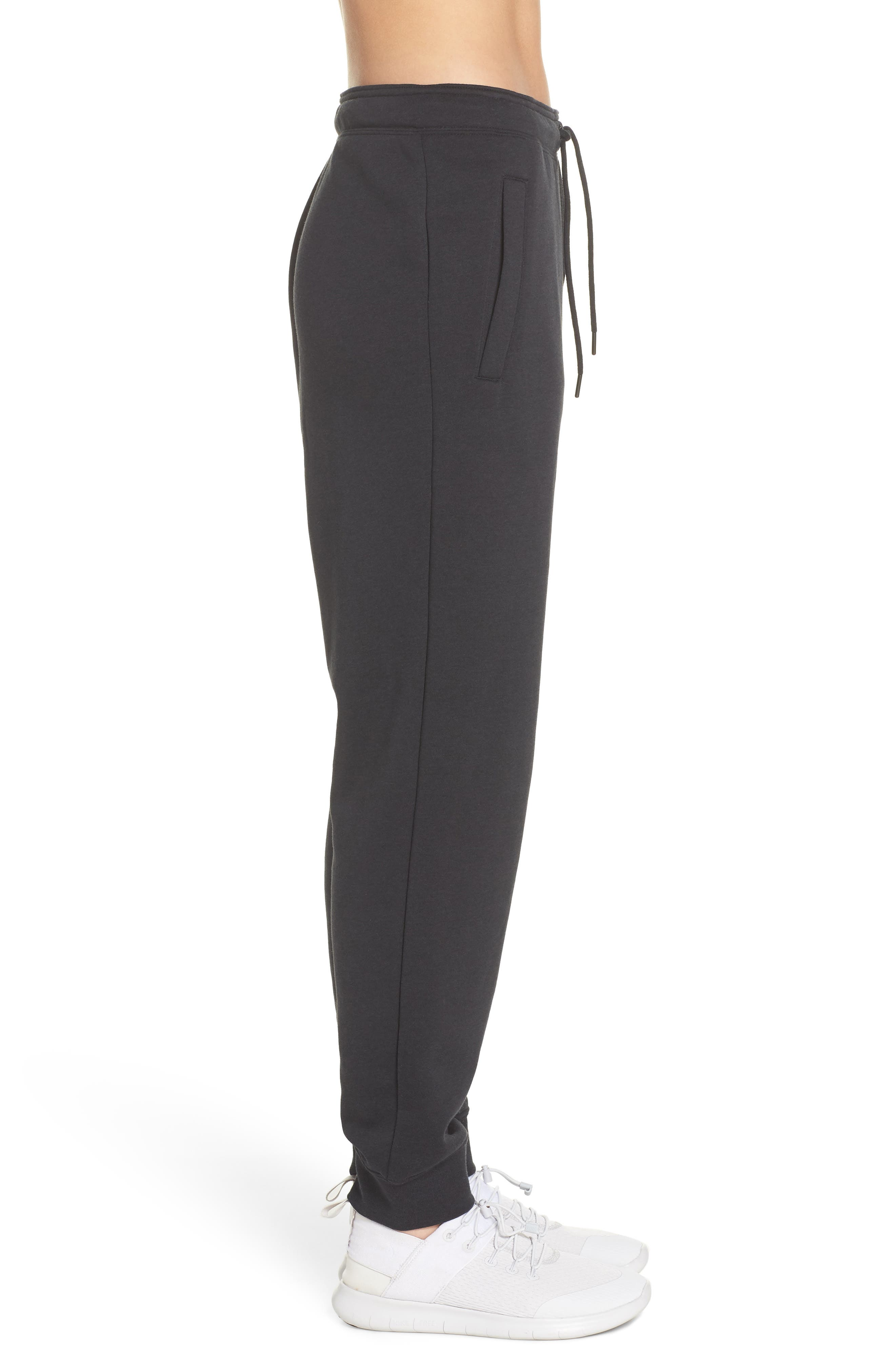 Sportswear Rally Jogger Pants,                             Alternate thumbnail 3, color,                             BLACK/ BLACK/ WHITE